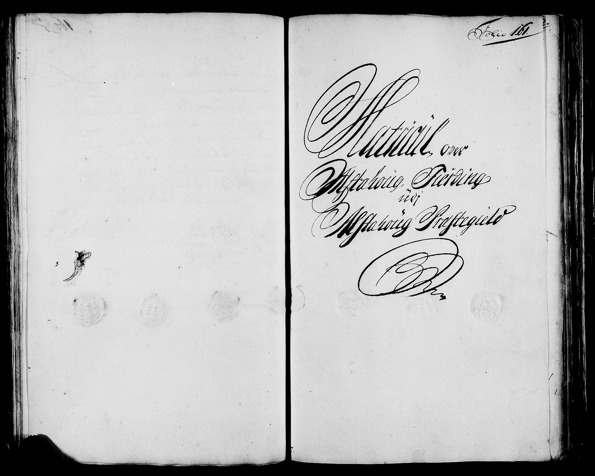 RA, Rentekammeret inntil 1814, Realistisk ordnet avdeling, N/Nb/Nbf/L0171: Helgeland matrikkelprotokoll, 1723, s. 160b-161a