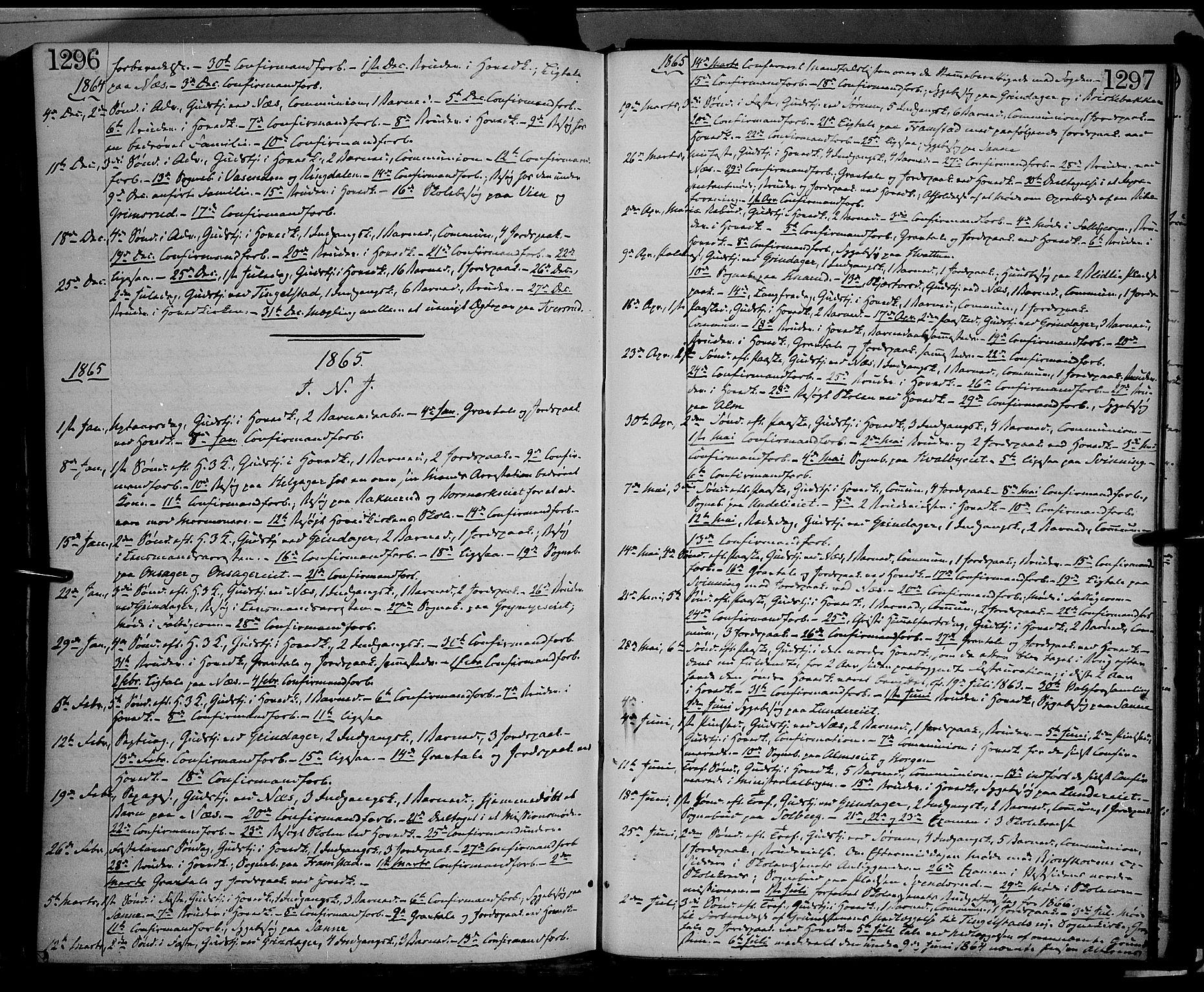 SAH, Gran prestekontor, Ministerialbok nr. 12, 1856-1874, s. 1296-1297