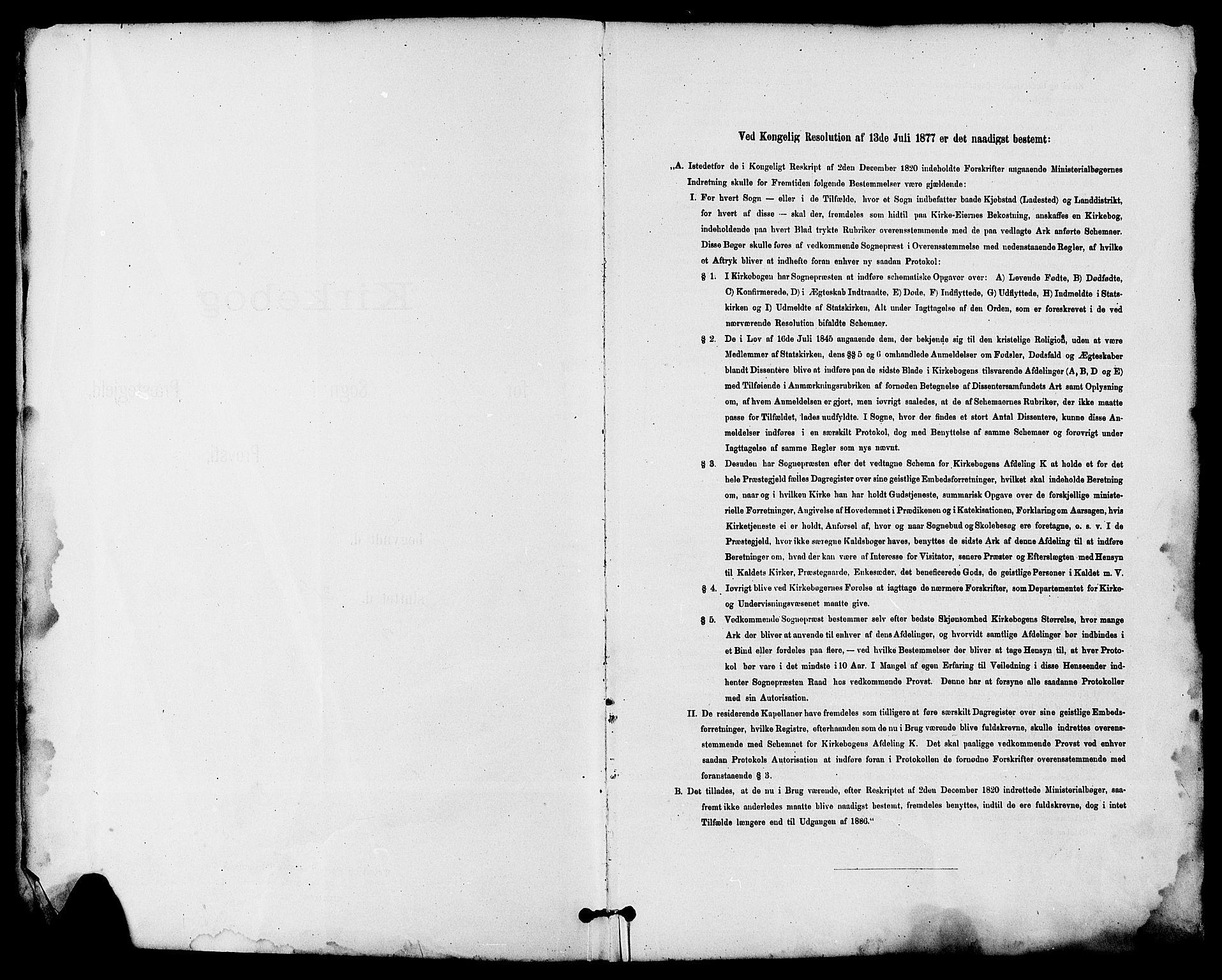 SAKO, Seljord kirkebøker, G/Ga/L0005: Klokkerbok nr. I 5, 1887-1914