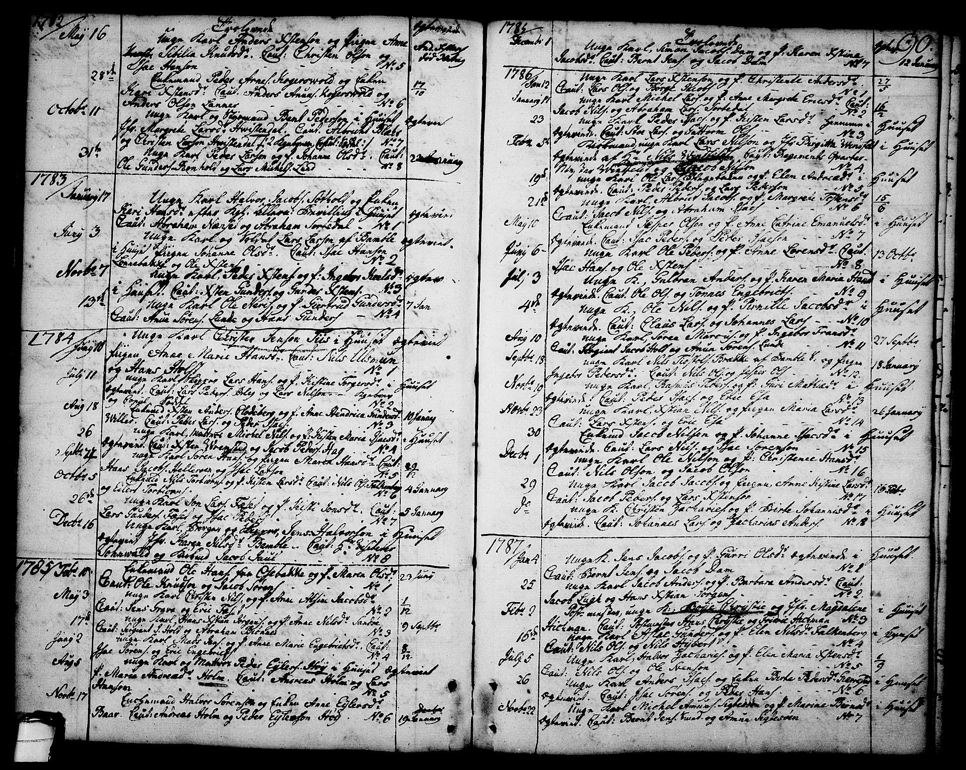 SAKO, Brevik kirkebøker, F/Fa/L0003: Ministerialbok nr. 3, 1764-1814, s. 90
