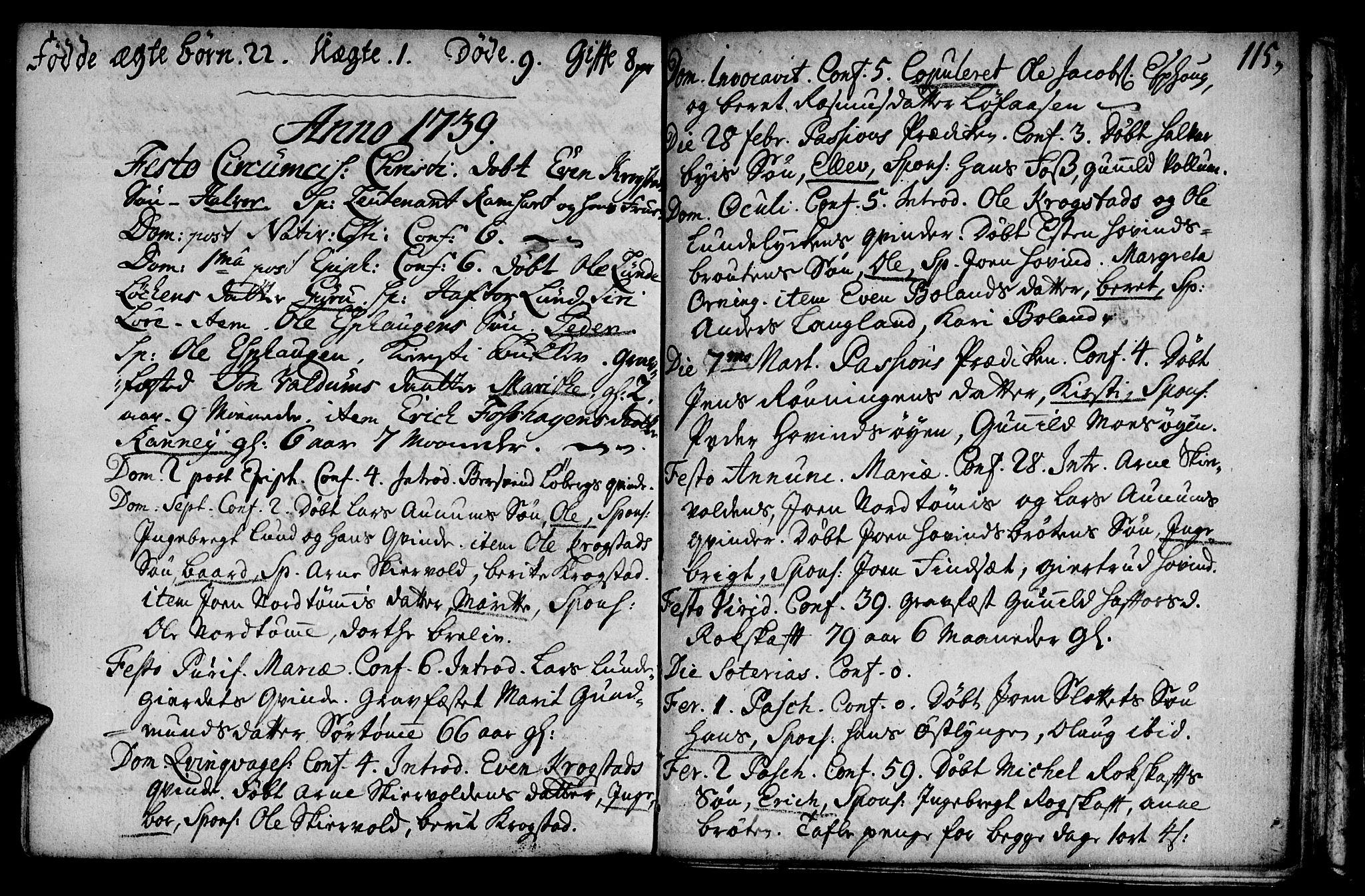 SAT, Ministerialprotokoller, klokkerbøker og fødselsregistre - Sør-Trøndelag, 692/L1101: Ministerialbok nr. 692A01, 1690-1746, s. 115