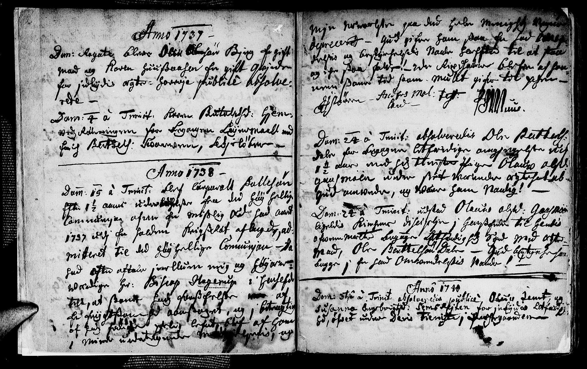 SAT, Ministerialprotokoller, klokkerbøker og fødselsregistre - Nord-Trøndelag, 749/L0467: Ministerialbok nr. 749A01, 1733-1787, s. 2-3