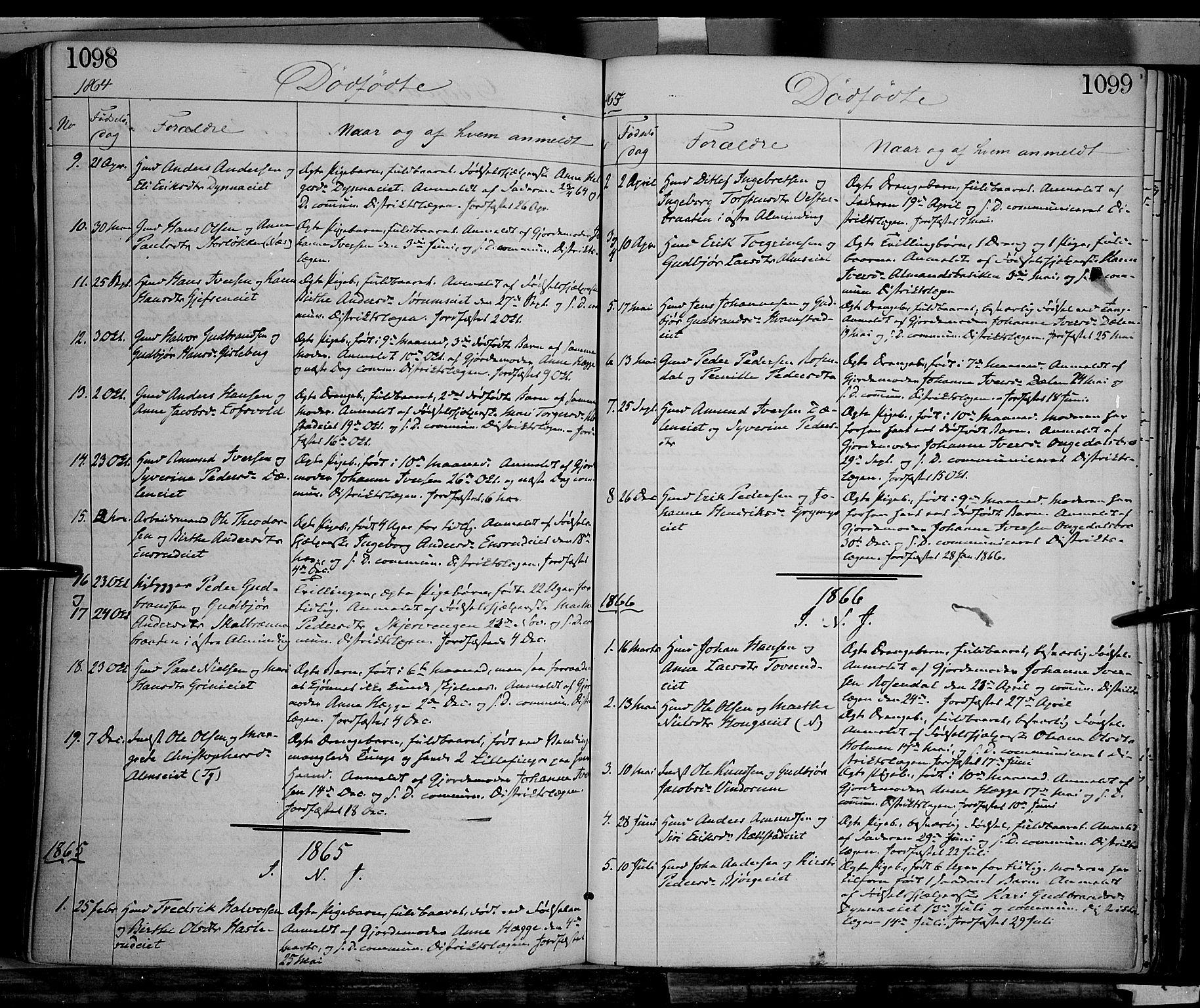 SAH, Gran prestekontor, Ministerialbok nr. 12, 1856-1874, s. 1098-1099