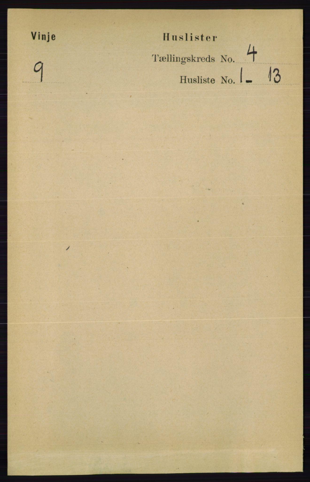 RA, Folketelling 1891 for 0834 Vinje herred, 1891, s. 905