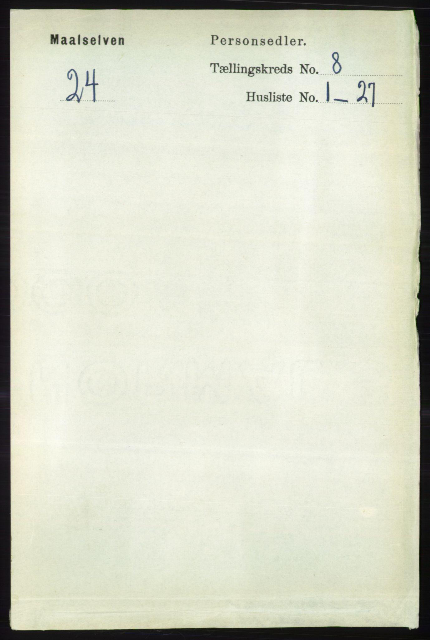 RA, Folketelling 1891 for 1924 Målselv herred, 1891, s. 2527