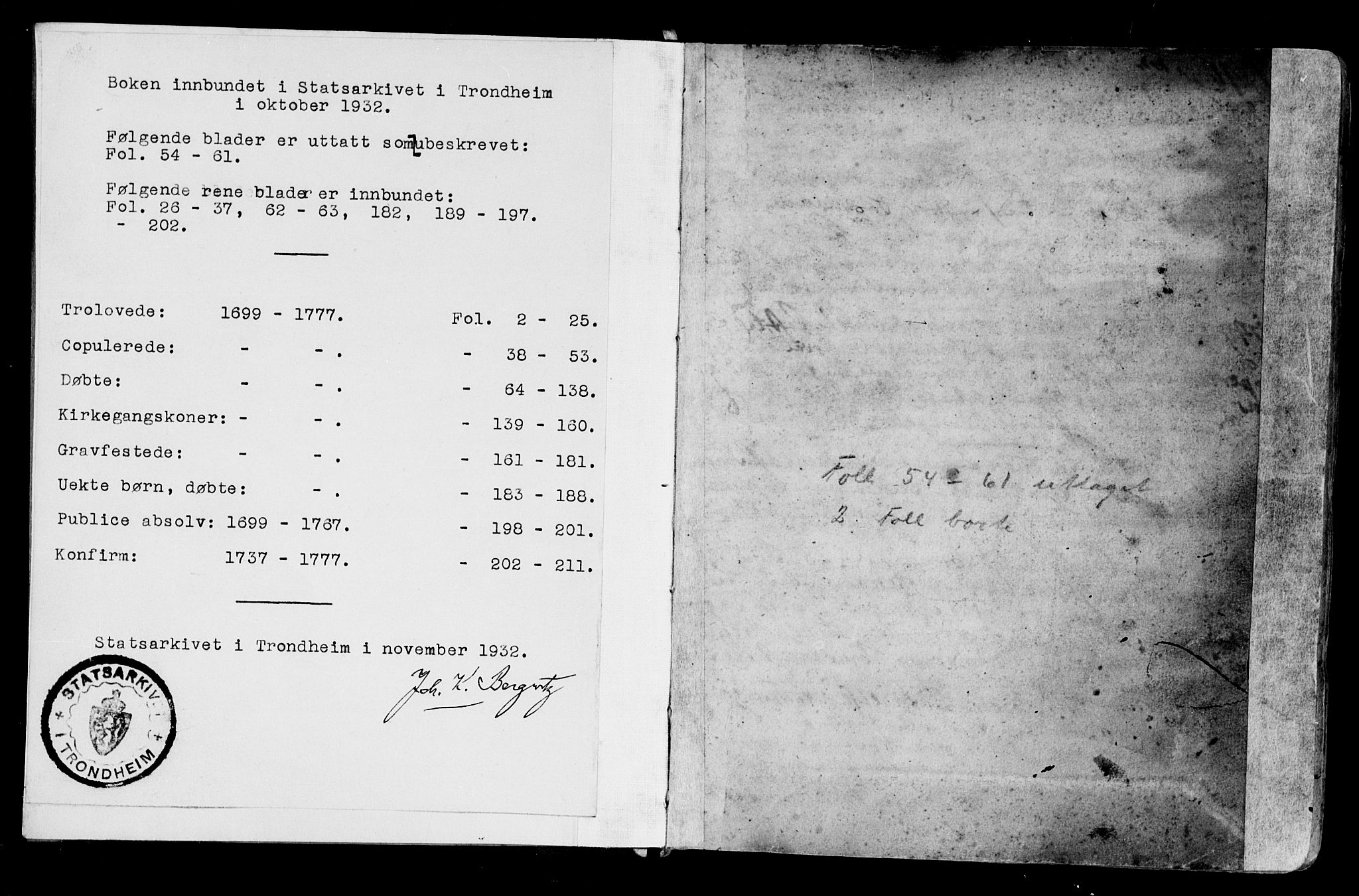 SAT, Ministerialprotokoller, klokkerbøker og fødselsregistre - Møre og Romsdal, 525/L0371: Ministerialbok nr. 525A01, 1699-1777