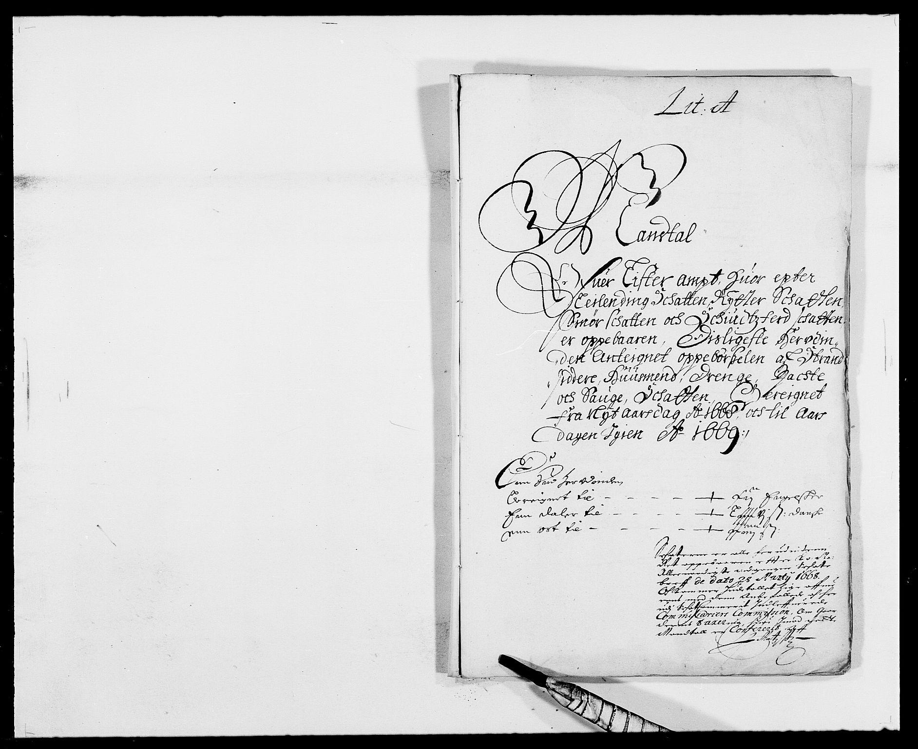 RA, Rentekammeret inntil 1814, Reviderte regnskaper, Fogderegnskap, R41/L2524: Fogderegnskap Lista, 1665-1668, s. 346