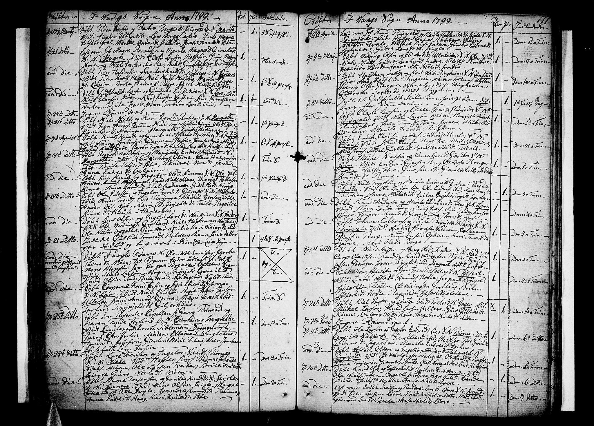 SAB, Voss Sokneprestembete, H/Haa: Ministerialbok nr. A 9, 1780-1810, s. 177