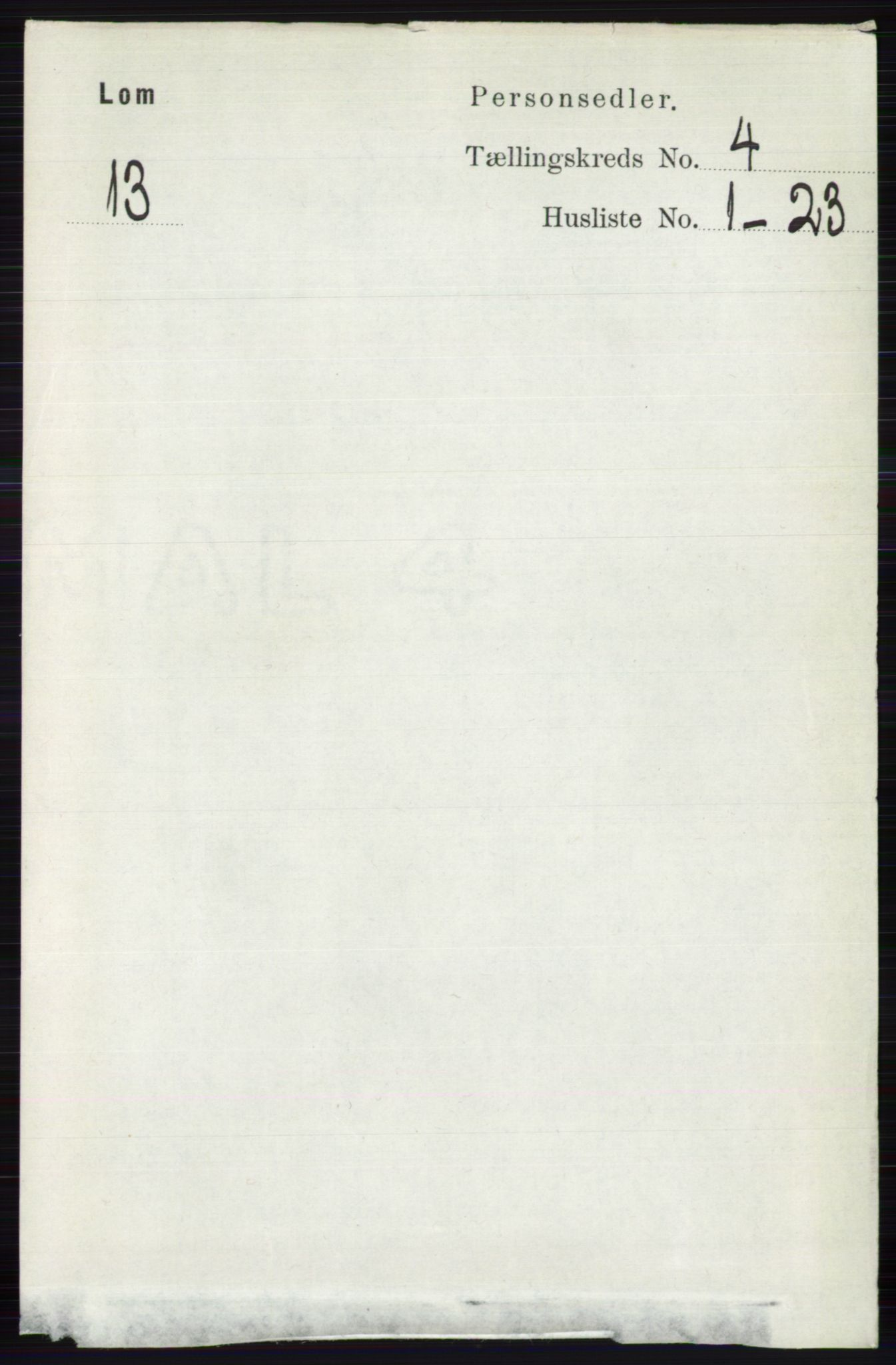 RA, Folketelling 1891 for 0514 Lom herred, 1891, s. 1503