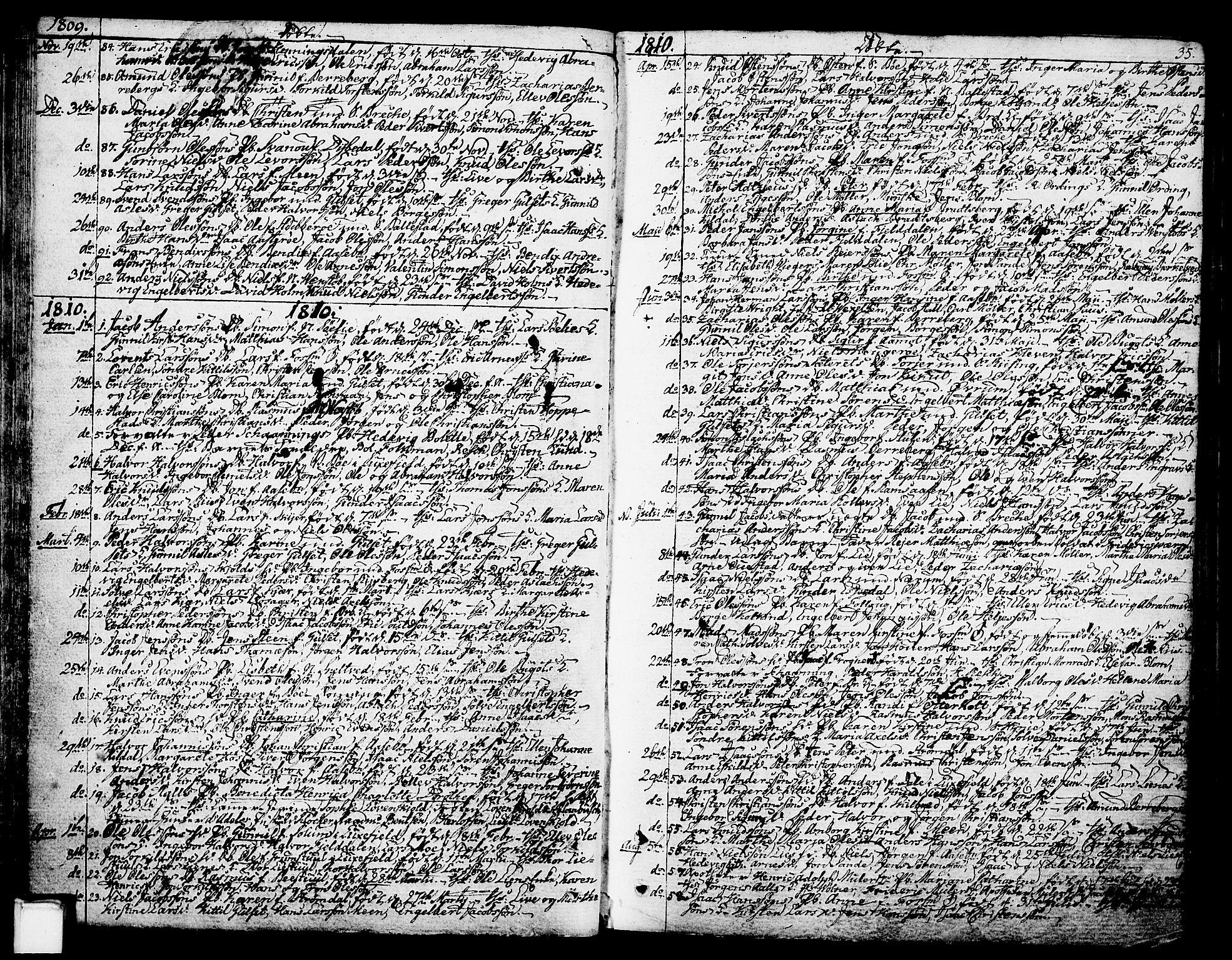 SAKO, Gjerpen kirkebøker, F/Fa/L0003: Ministerialbok nr. 3, 1796-1814, s. 35