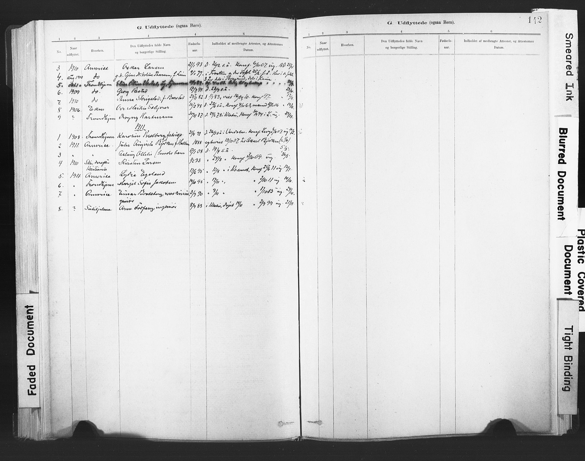 SAT, Ministerialprotokoller, klokkerbøker og fødselsregistre - Nord-Trøndelag, 720/L0189: Ministerialbok nr. 720A05, 1880-1911, s. 142