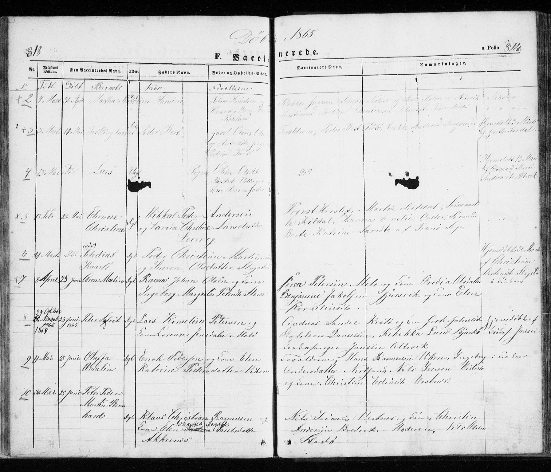 SATØ, Trondenes sokneprestkontor, H/Ha/L0010kirke: Ministerialbok nr. 10, 1840-1865, s. 813-814