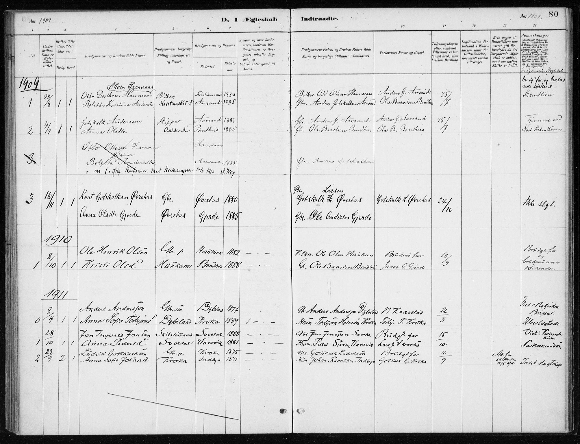 SAB, Kvinnherad Sokneprestembete, H/Haa: Ministerialbok nr. F 1, 1887-1912, s. 80