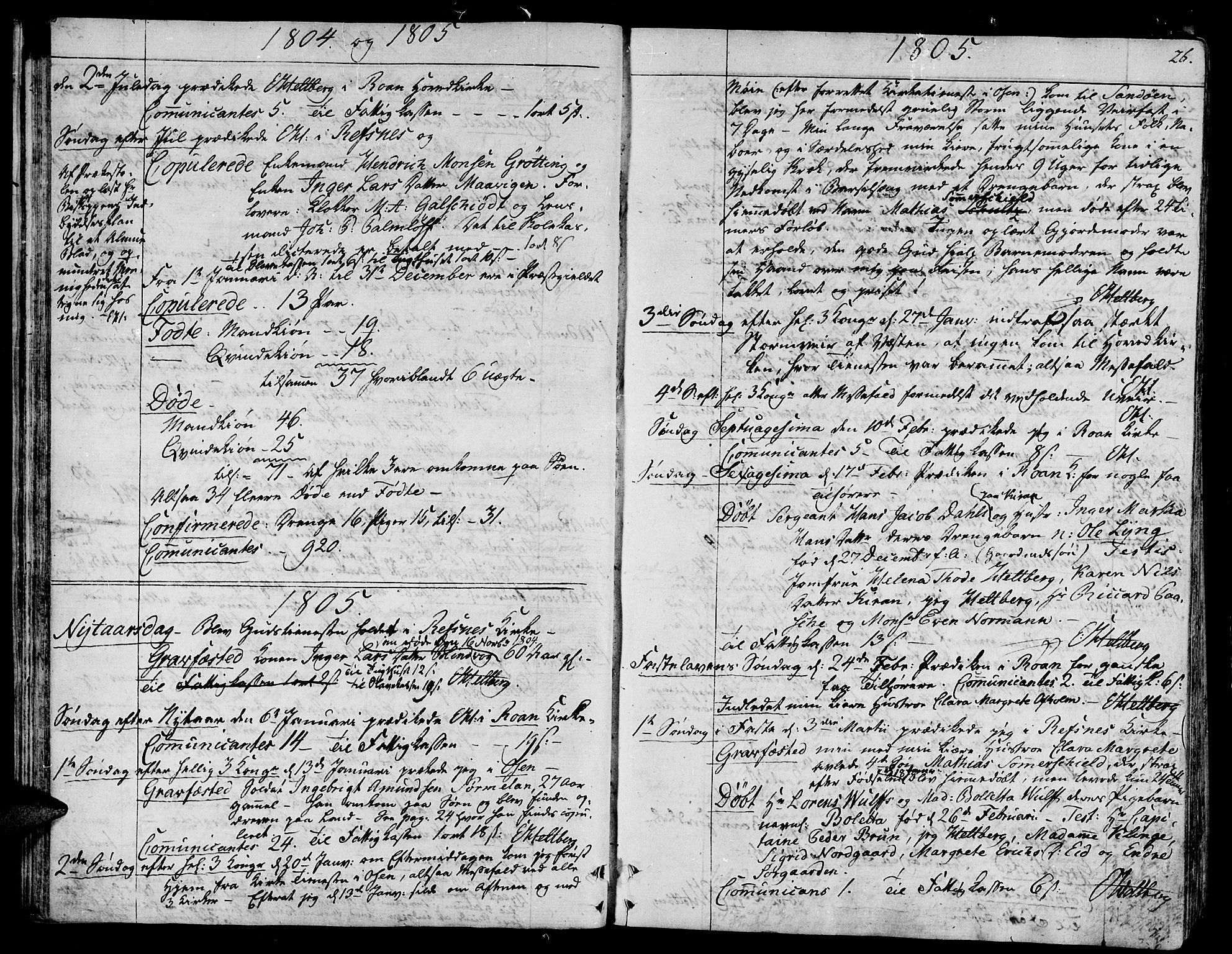 SAT, Ministerialprotokoller, klokkerbøker og fødselsregistre - Sør-Trøndelag, 657/L0701: Ministerialbok nr. 657A02, 1802-1831, s. 26
