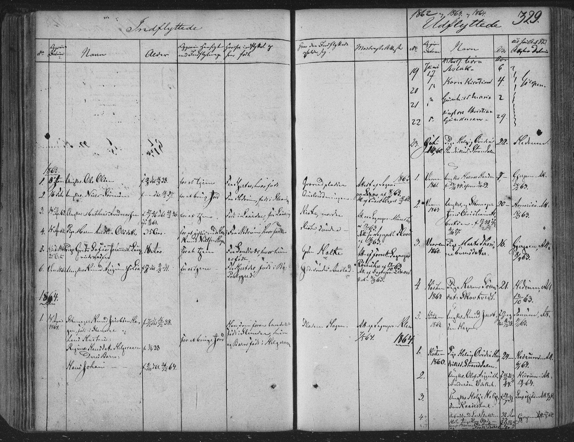 SAKO, Siljan kirkebøker, F/Fa/L0001: Ministerialbok nr. 1, 1831-1870, s. 329