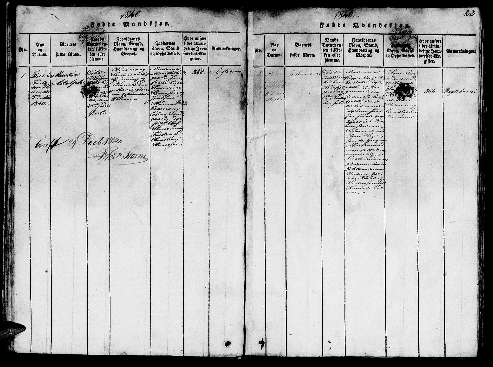 SAT, Ministerialprotokoller, klokkerbøker og fødselsregistre - Sør-Trøndelag, 623/L0478: Klokkerbok nr. 623C01, 1815-1873, s. 23