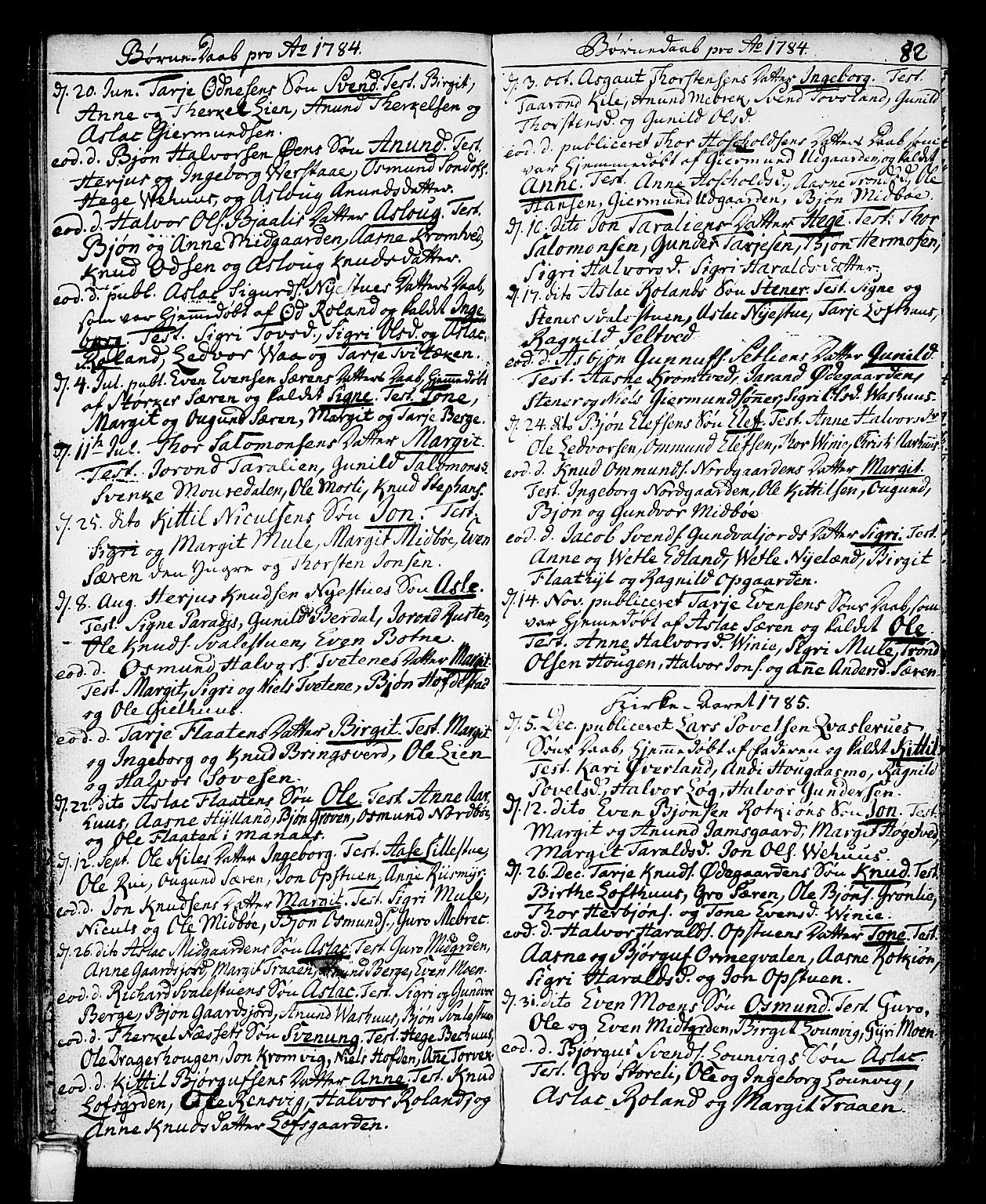SAKO, Vinje kirkebøker, F/Fa/L0002: Ministerialbok nr. I 2, 1767-1814, s. 82