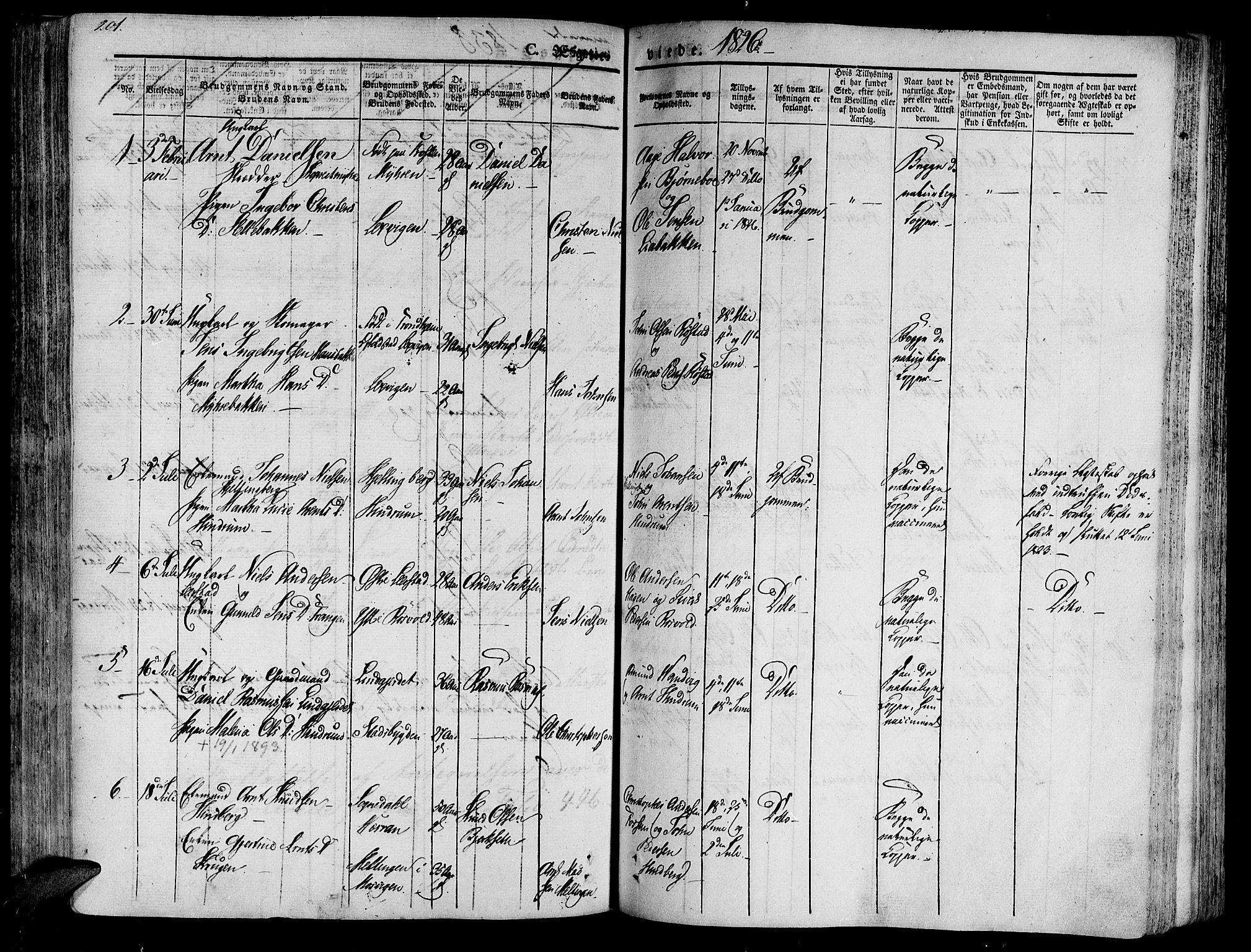 SAT, Ministerialprotokoller, klokkerbøker og fødselsregistre - Nord-Trøndelag, 701/L0006: Ministerialbok nr. 701A06, 1825-1841, s. 201