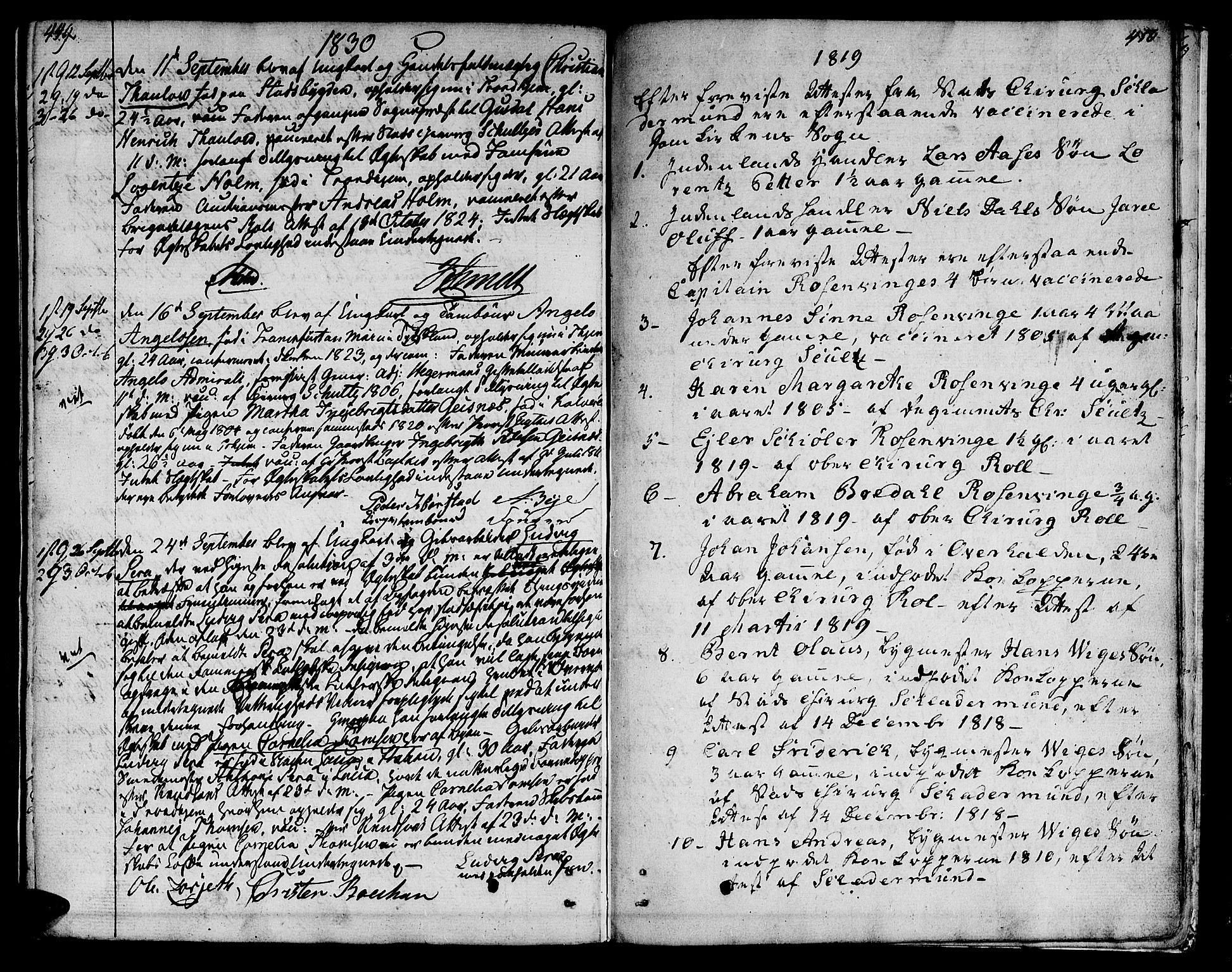 SAT, Ministerialprotokoller, klokkerbøker og fødselsregistre - Sør-Trøndelag, 601/L0042: Ministerialbok nr. 601A10, 1802-1830, s. 449-450