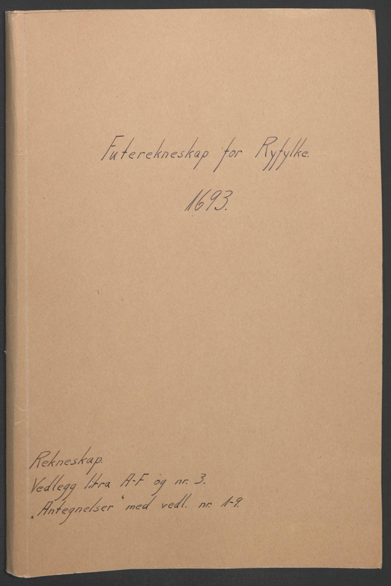 RA, Rentekammeret inntil 1814, Reviderte regnskaper, Fogderegnskap, R47/L2856: Fogderegnskap Ryfylke, 1689-1693, s. 595