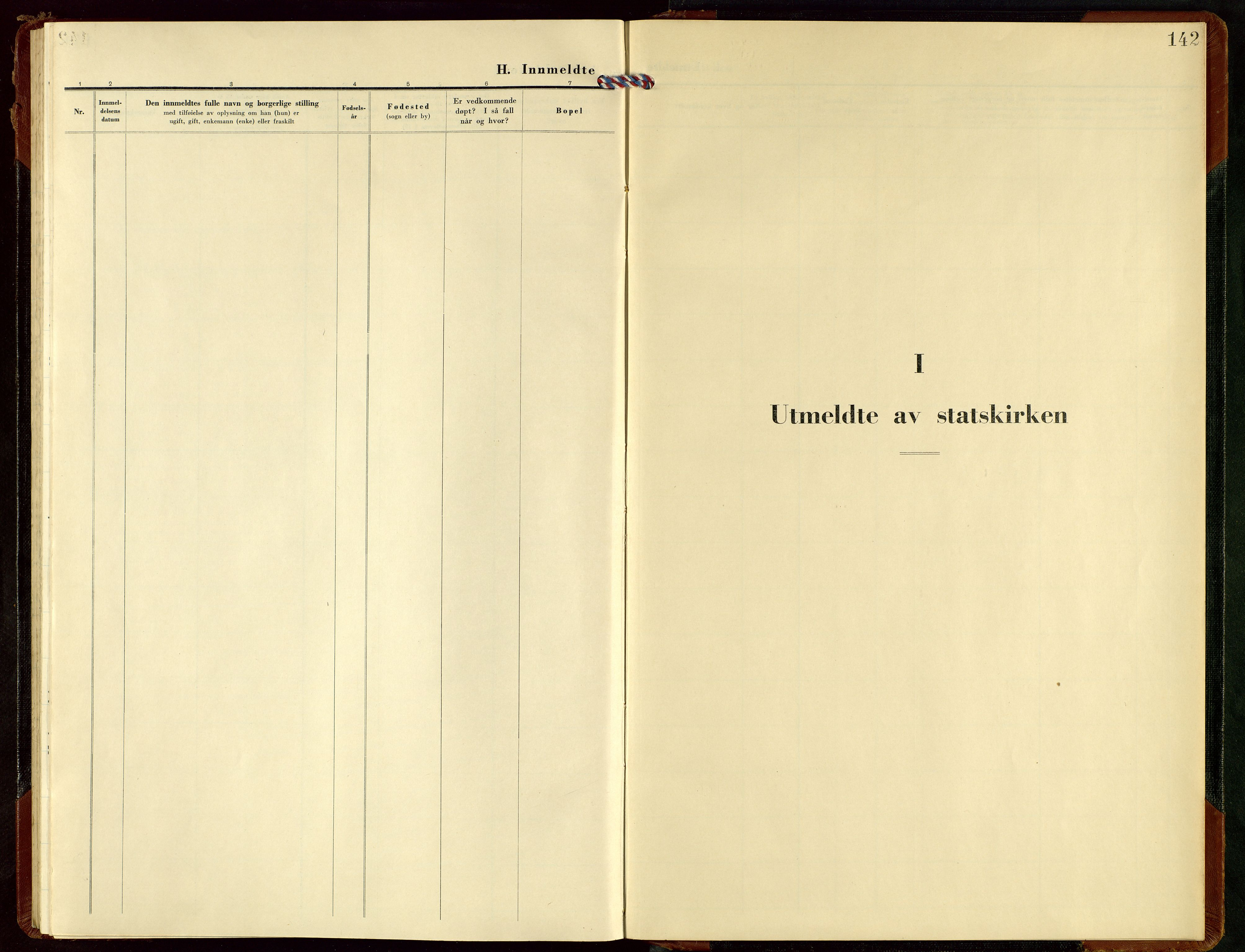SAST, Rennesøy sokneprestkontor, H/Ha/Hab/L0019: Klokkerbok nr. B 18, 1950-1972, s. 142