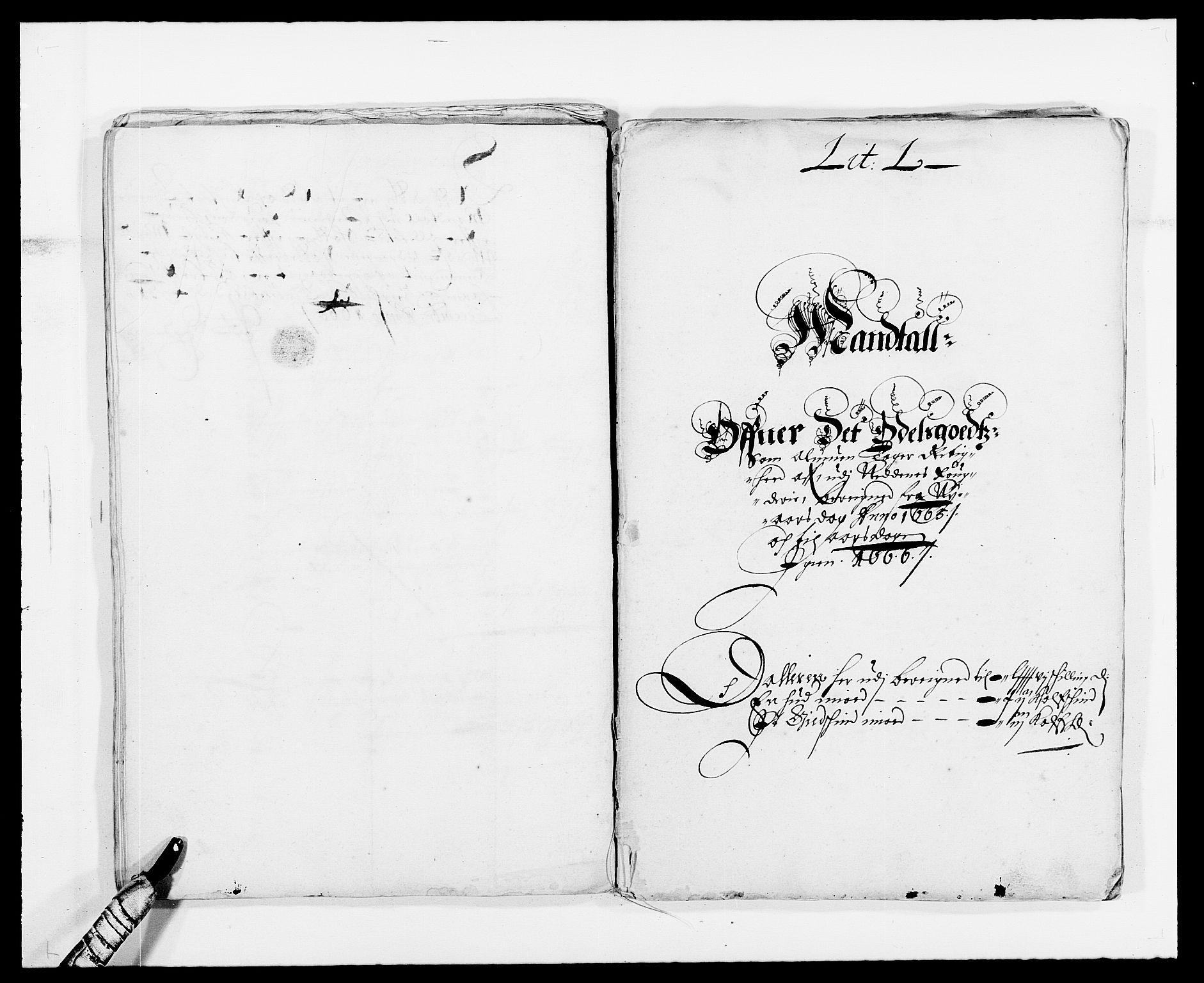 RA, Rentekammeret inntil 1814, Reviderte regnskaper, Fogderegnskap, R39/L2296: Fogderegnskap Nedenes, 1664-1666, s. 186