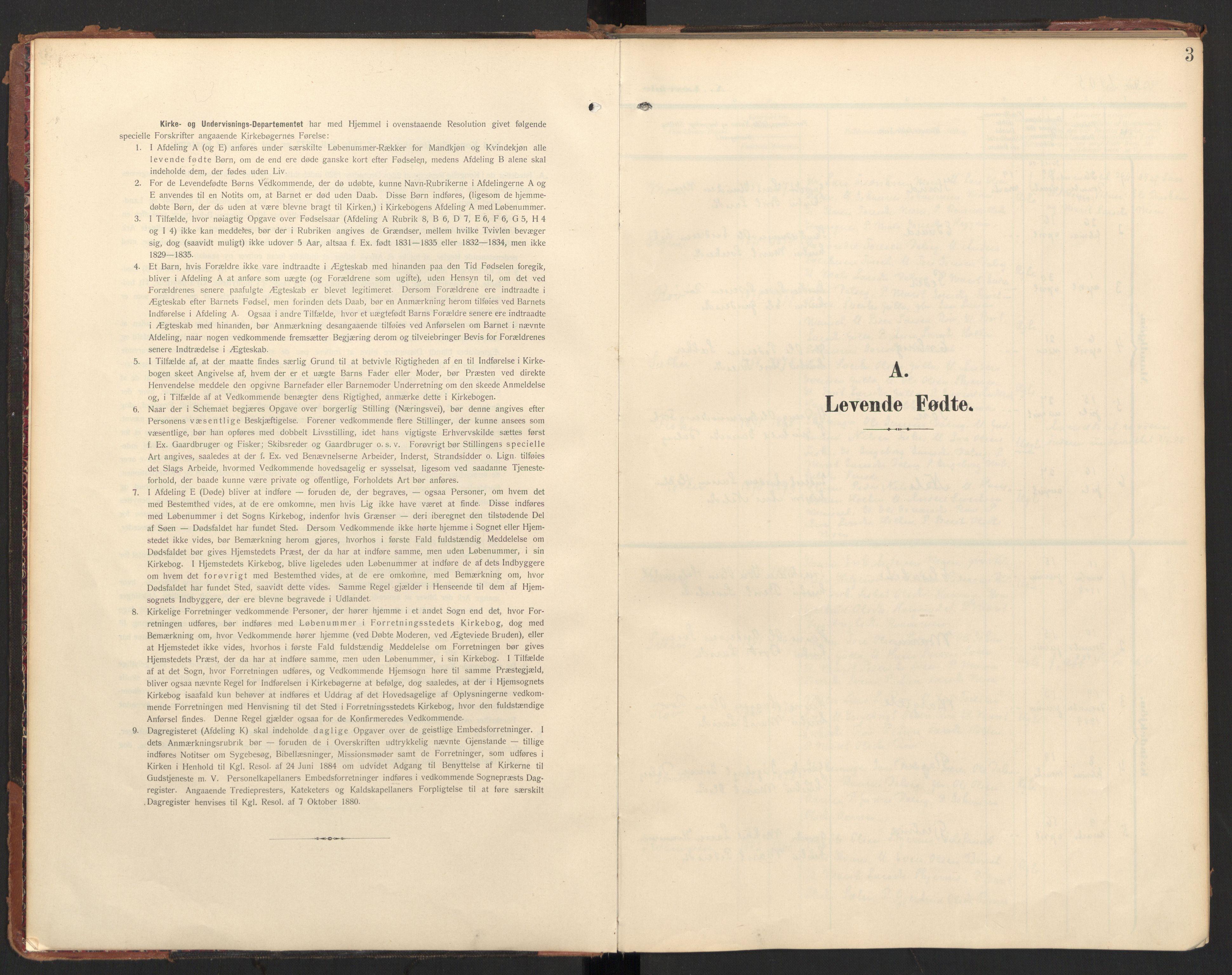 SAT, Ministerialprotokoller, klokkerbøker og fødselsregistre - Møre og Romsdal, 597/L1063: Ministerialbok nr. 597A02, 1905-1923, s. 3