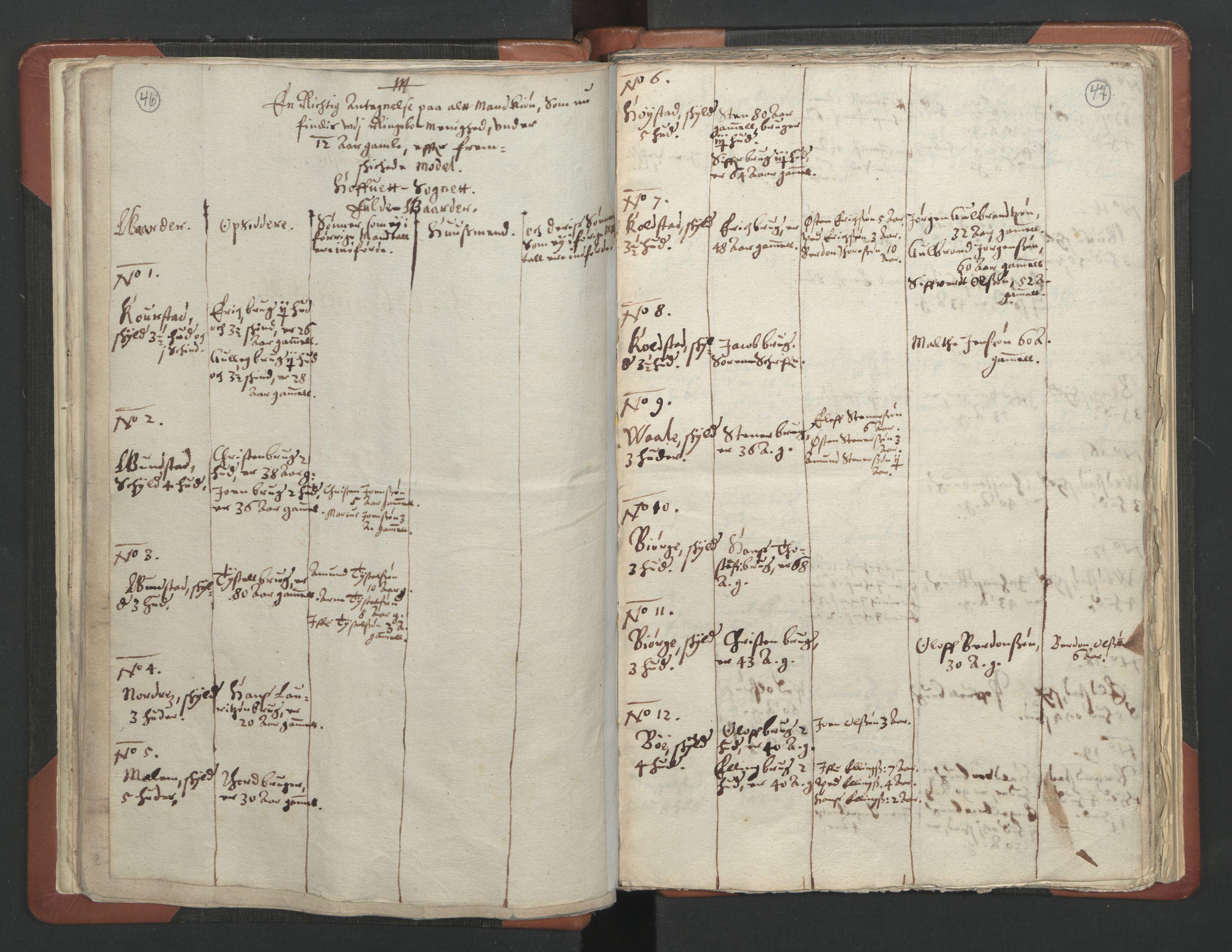 RA, Sogneprestenes manntall 1664-1666, nr. 6: Gudbrandsdal prosti, 1664-1666, s. 46-47