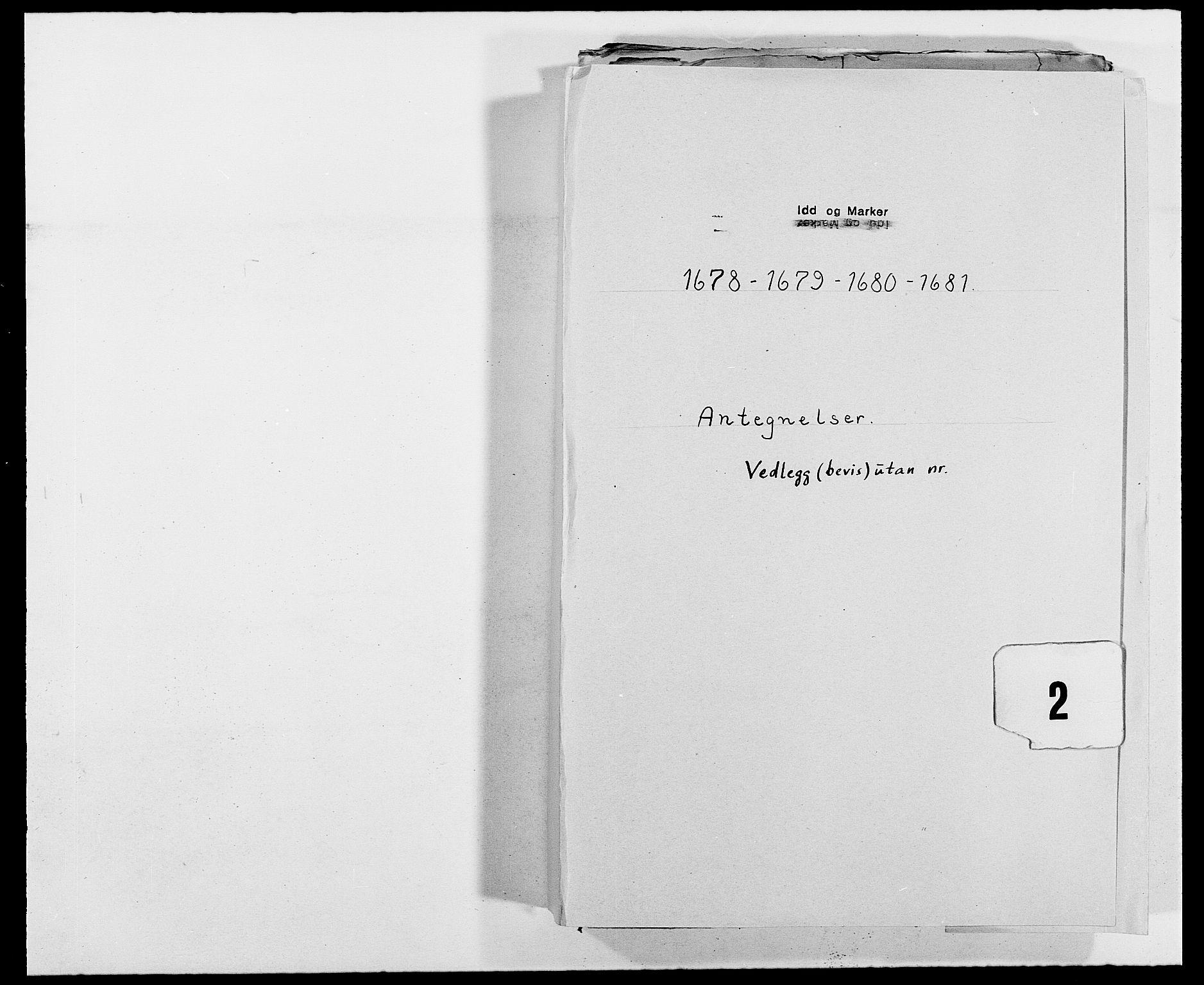 RA, Rentekammeret inntil 1814, Reviderte regnskaper, Fogderegnskap, R01/L0003: Fogderegnskap Idd og Marker, 1678-1681, s. 254