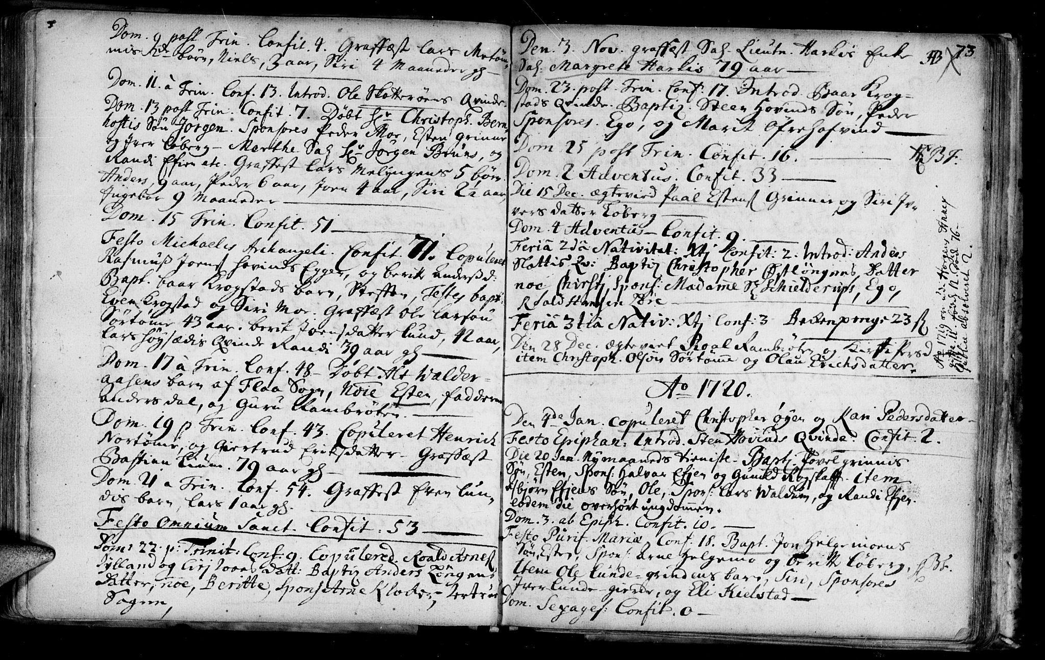 SAT, Ministerialprotokoller, klokkerbøker og fødselsregistre - Sør-Trøndelag, 692/L1101: Ministerialbok nr. 692A01, 1690-1746, s. 73