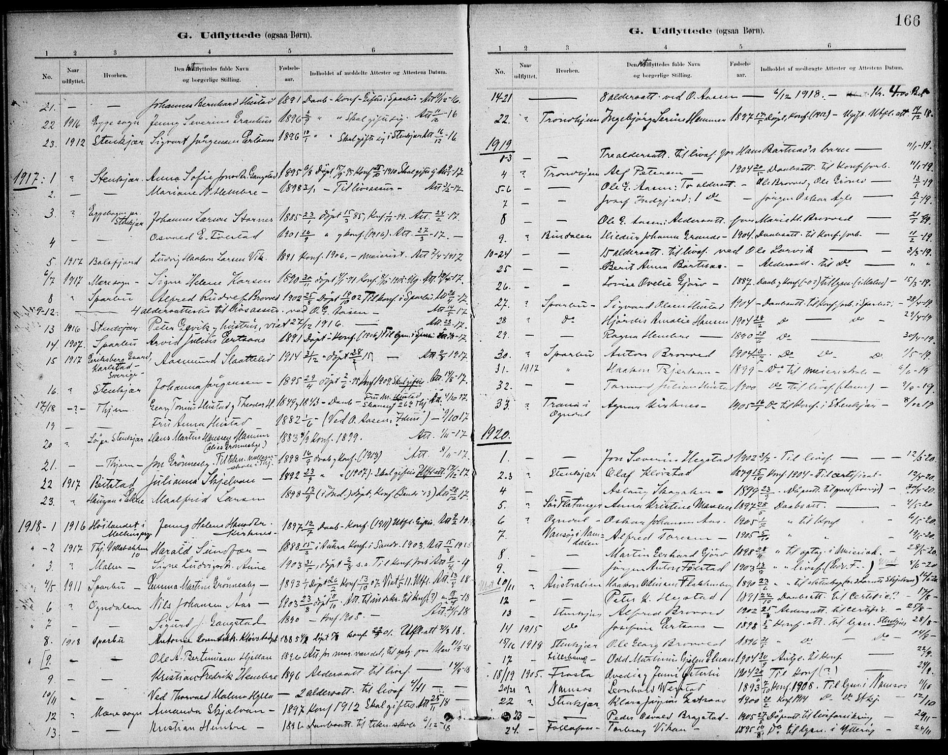 SAT, Ministerialprotokoller, klokkerbøker og fødselsregistre - Nord-Trøndelag, 732/L0316: Ministerialbok nr. 732A01, 1879-1921, s. 166