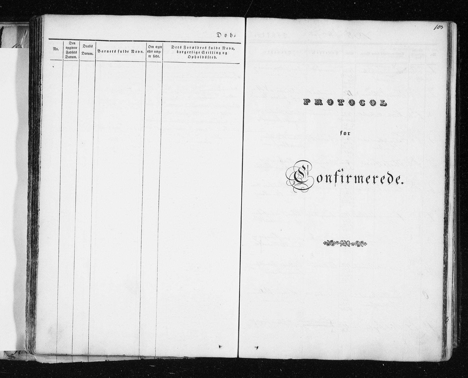 SATØ, Tromsø sokneprestkontor/stiftsprosti/domprosti, G/Ga/L0009kirke: Ministerialbok nr. 9, 1837-1847, s. 103
