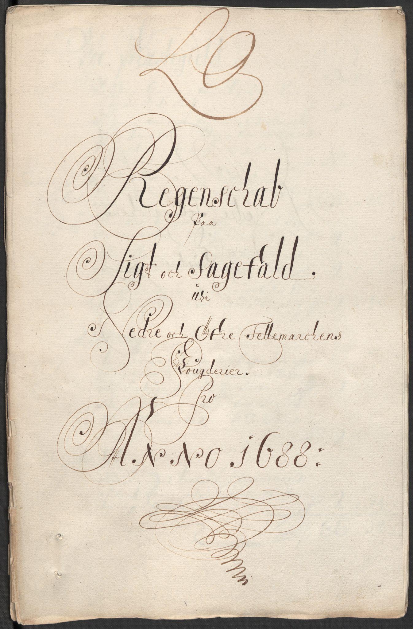RA, Rentekammeret inntil 1814, Reviderte regnskaper, Fogderegnskap, R35/L2087: Fogderegnskap Øvre og Nedre Telemark, 1687-1689, s. 10