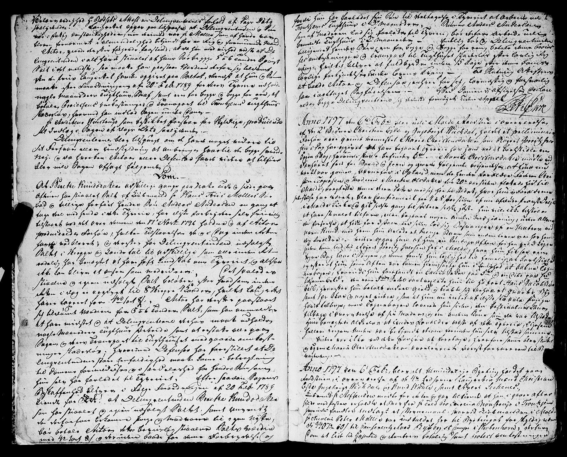 SAT, Molde byfogd, 1/1A/L0002: Justisprotokoll, 1797-1831, s. 3b-4a