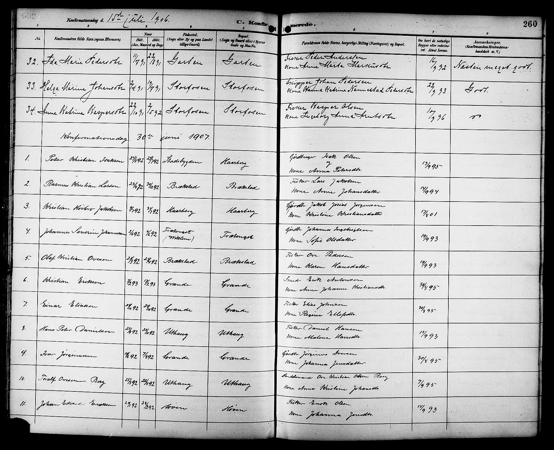 SAT, Ministerialprotokoller, klokkerbøker og fødselsregistre - Sør-Trøndelag, 659/L0746: Klokkerbok nr. 659C03, 1893-1912, s. 260