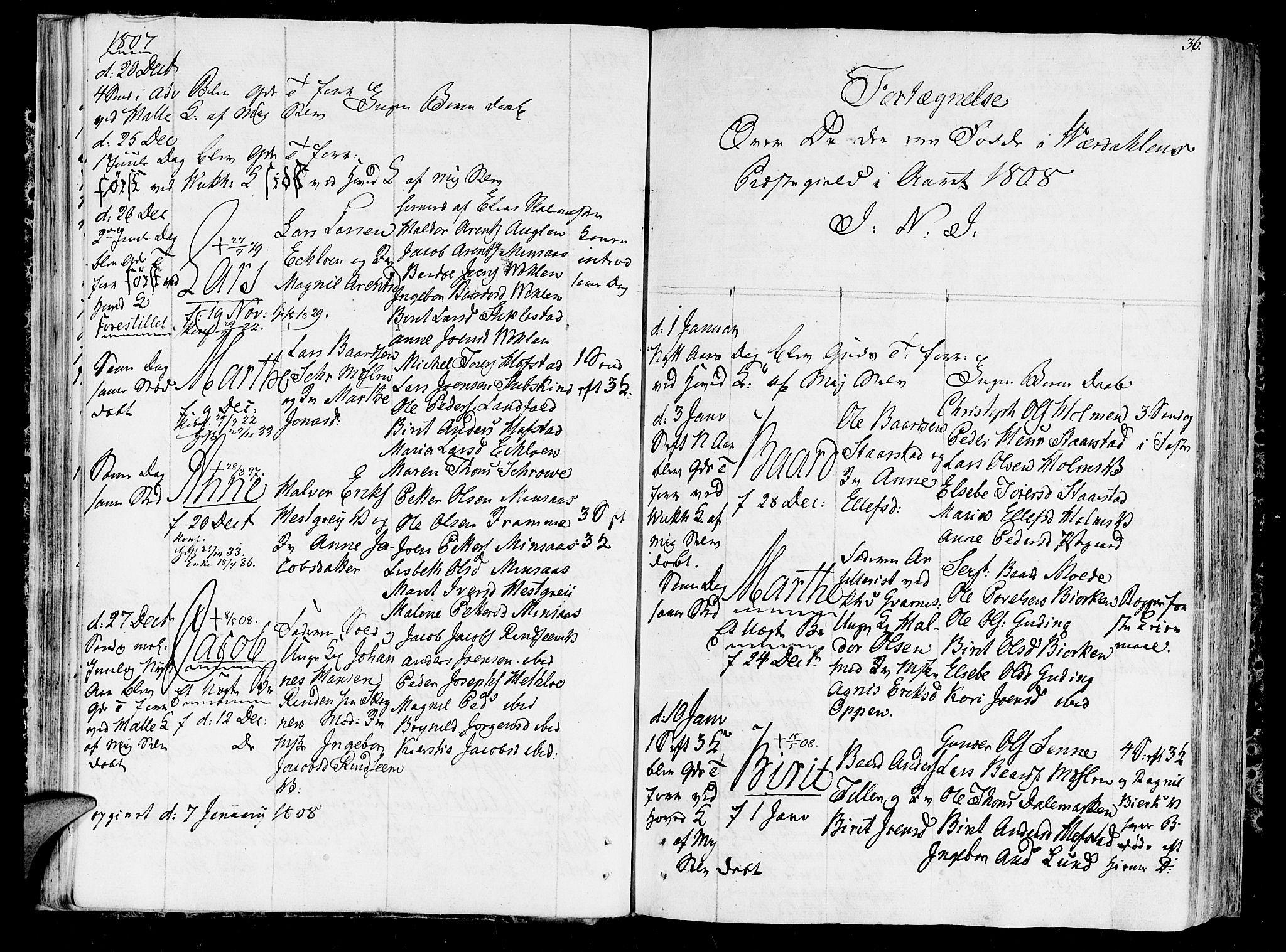 SAT, Ministerialprotokoller, klokkerbøker og fødselsregistre - Nord-Trøndelag, 723/L0233: Ministerialbok nr. 723A04, 1805-1816, s. 36