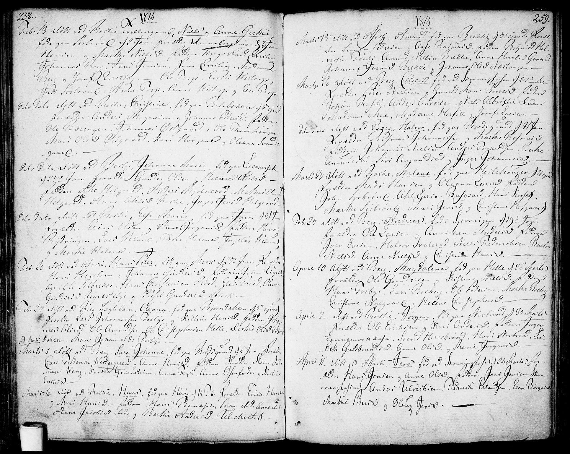 SAO, Berg prestekontor Kirkebøker, F/Fa/L0001: Ministerialbok nr. I 1, 1770-1814, s. 258-259