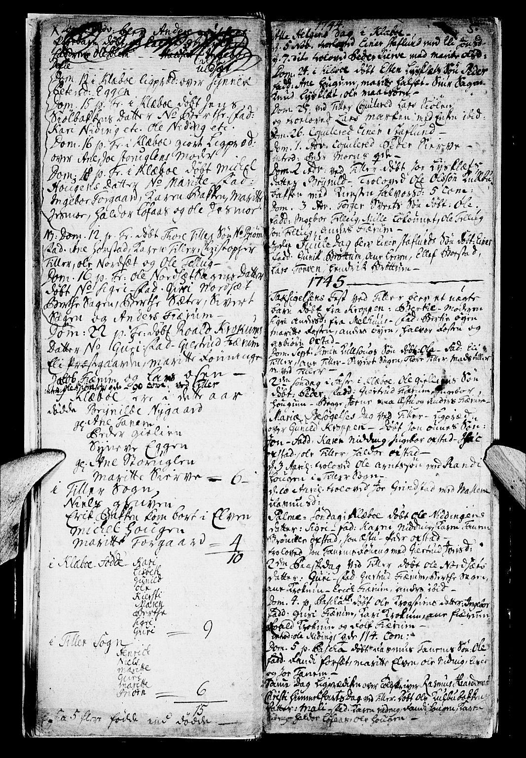 SAT, Ministerialprotokoller, klokkerbøker og fødselsregistre - Sør-Trøndelag, 618/L0436: Ministerialbok nr. 618A01, 1741-1749, s. 5