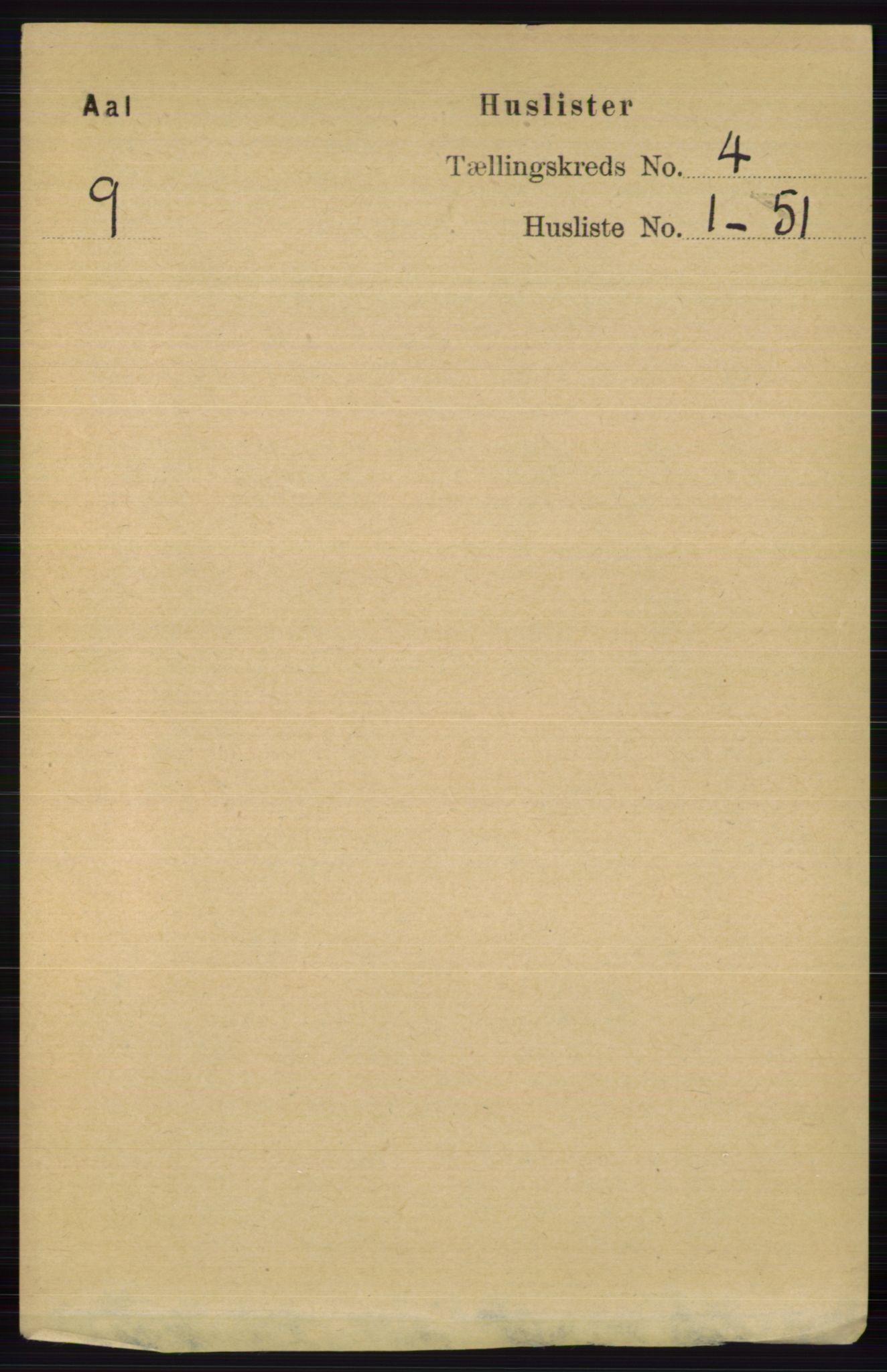 RA, Folketelling 1891 for 0619 Ål herred, 1891, s. 980