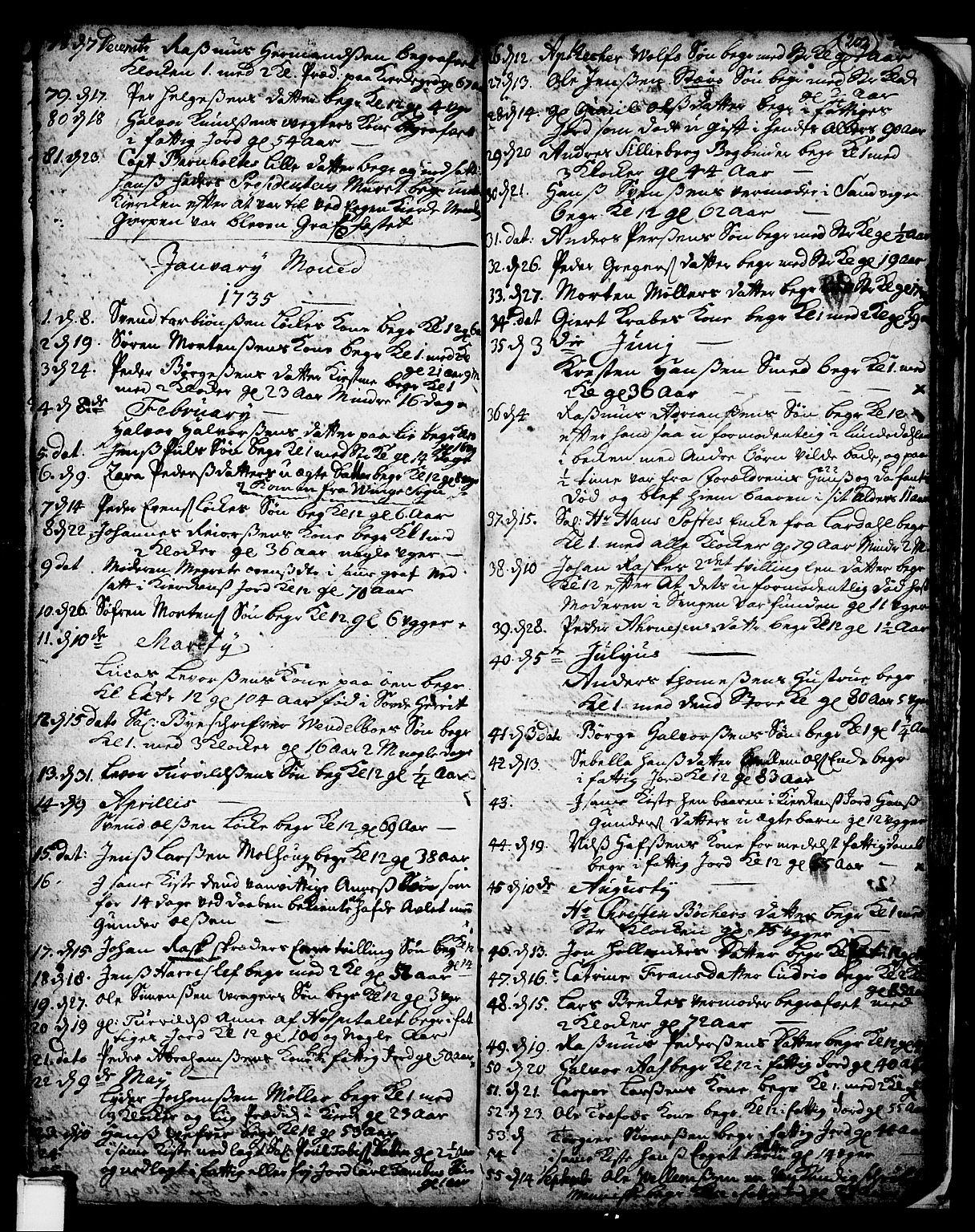 SAKO, Skien kirkebøker, F/Fa/L0002: Ministerialbok nr. 2, 1716-1757, s. 202