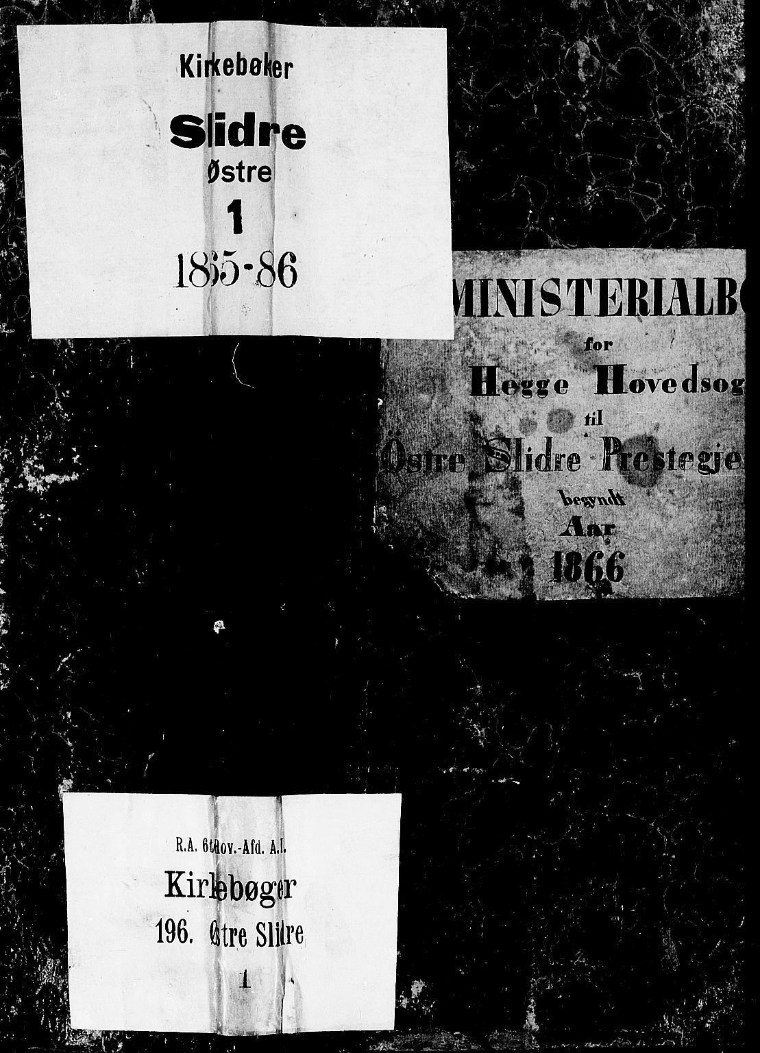 SAH, Øystre Slidre prestekontor, Klokkerbok nr. 1, 1866-1886