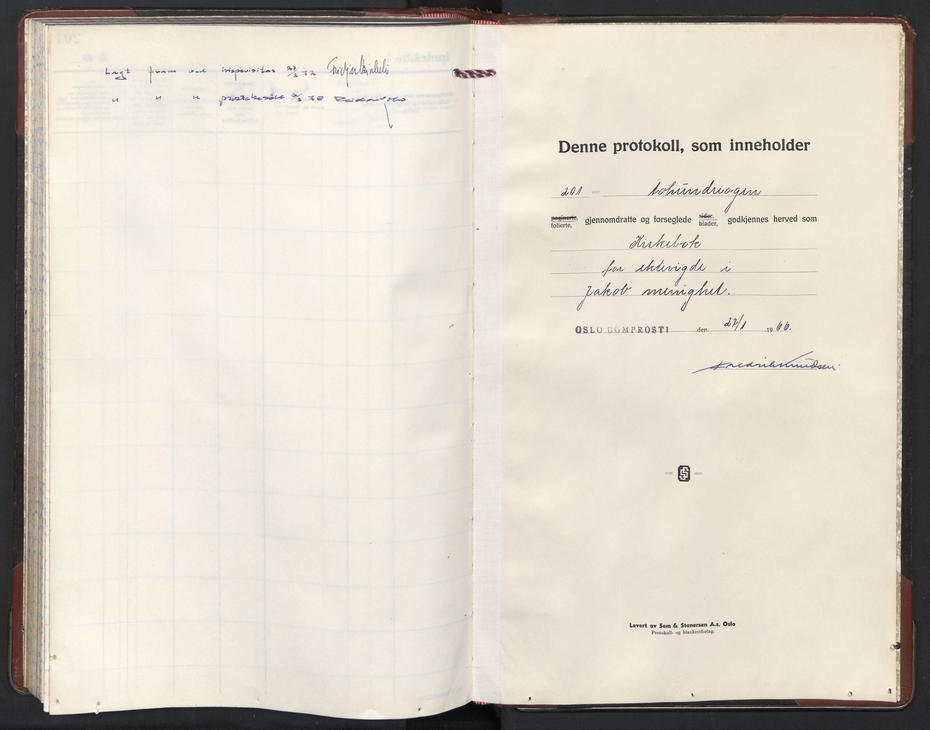 SAO, Jakob prestekontor Kirkebøker, F/Fa/L0022: Ministerialbok nr. 22, 1966-1984
