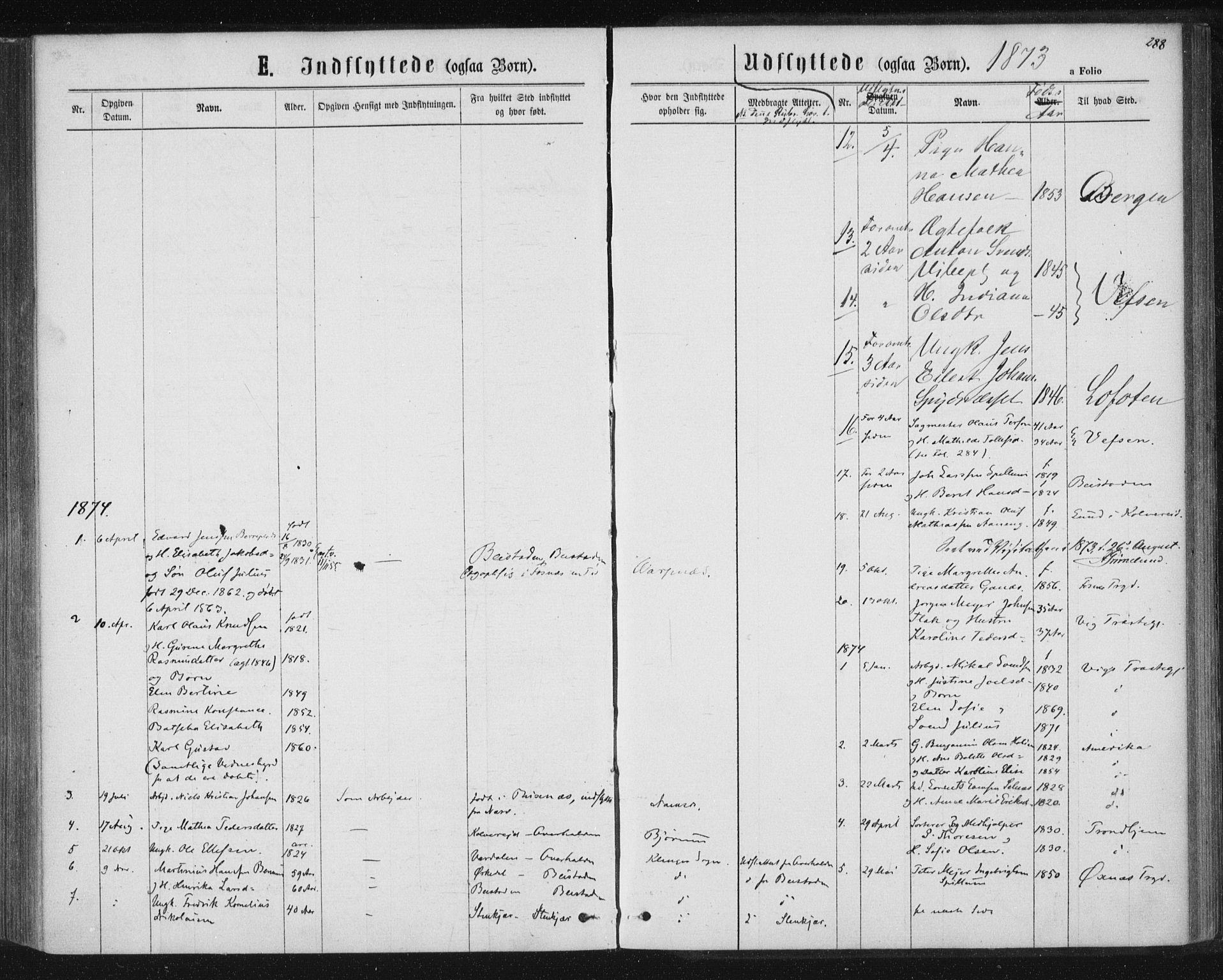 SAT, Ministerialprotokoller, klokkerbøker og fødselsregistre - Nord-Trøndelag, 768/L0570: Ministerialbok nr. 768A05, 1865-1874, s. 288