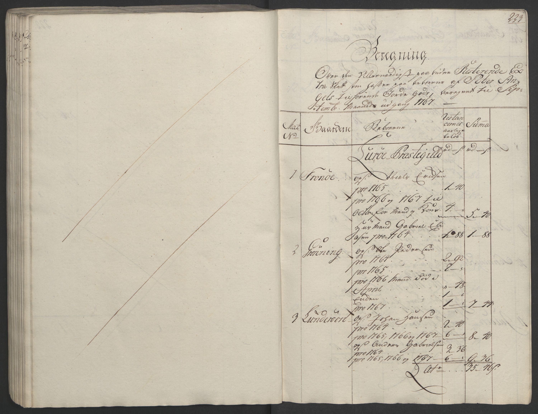 RA, Rentekammeret inntil 1814, Realistisk ordnet avdeling, Ol/L0023: [Gg 10]: Ekstraskatten, 23.09.1762. Helgeland (restanseregister), 1767-1772, s. 219