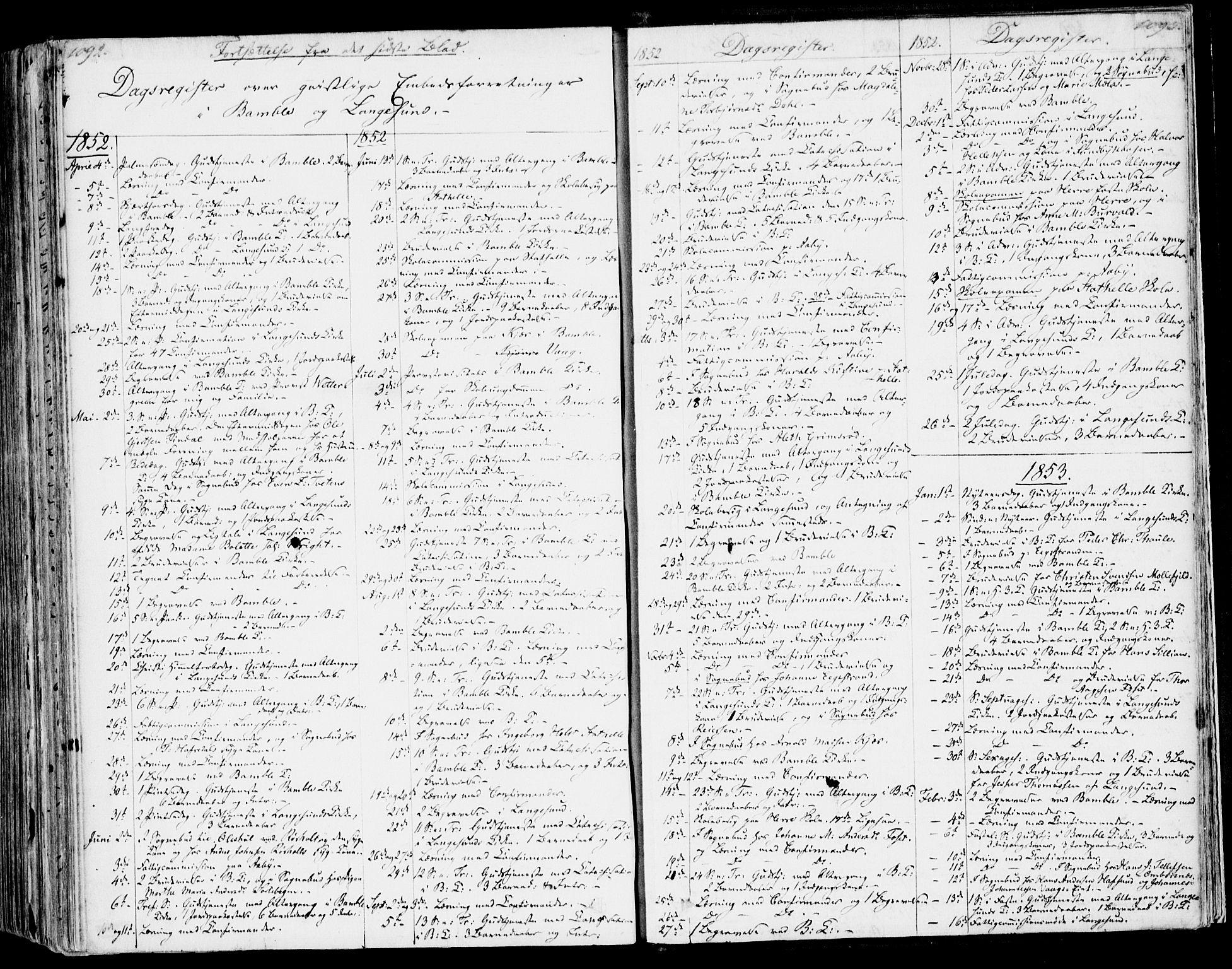 SAKO, Bamble kirkebøker, F/Fa/L0004: Ministerialbok nr. I 4, 1834-1853, s. 1092-1093