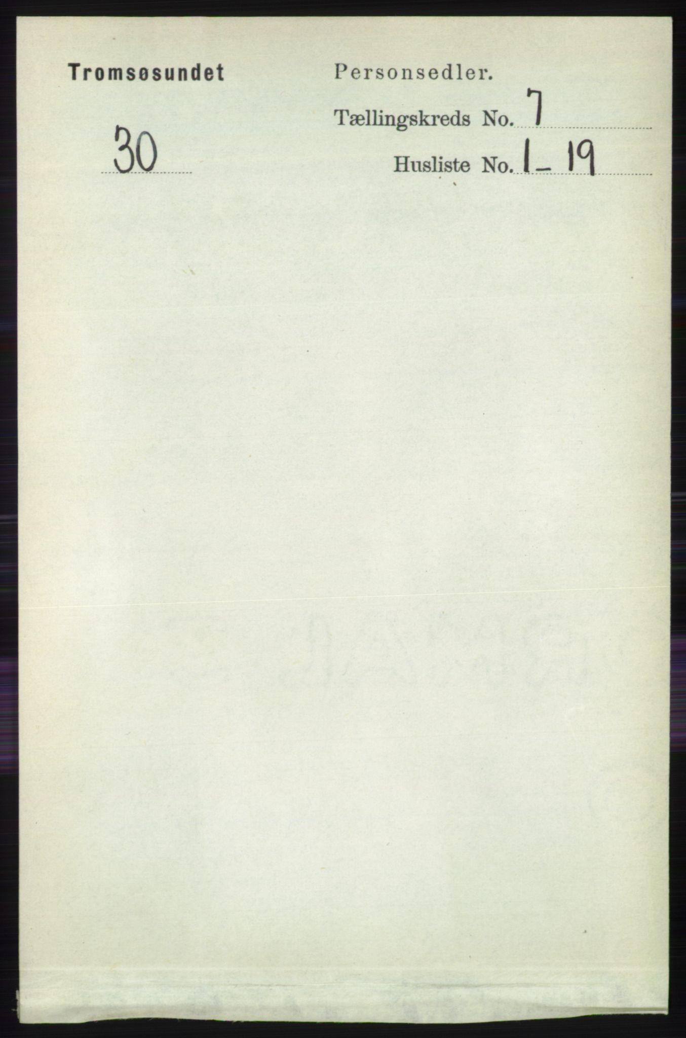 RA, Folketelling 1891 for 1934 Tromsøysund herred, 1891, s. 3719