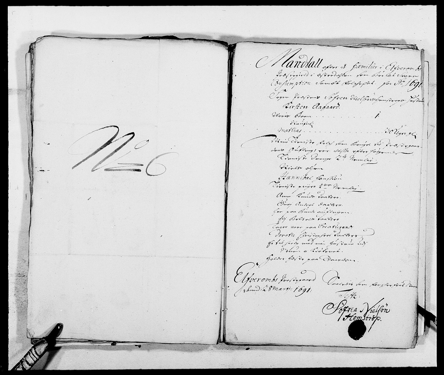 RA, Rentekammeret inntil 1814, Reviderte regnskaper, Fogderegnskap, R13/L0829: Fogderegnskap Solør, Odal og Østerdal, 1691, s. 339