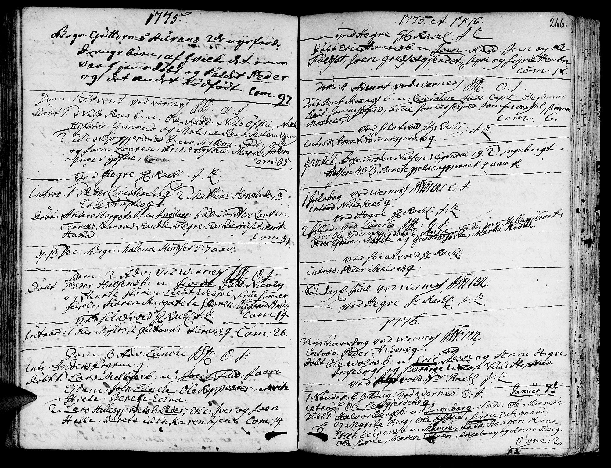 SAT, Ministerialprotokoller, klokkerbøker og fødselsregistre - Nord-Trøndelag, 709/L0057: Ministerialbok nr. 709A05, 1755-1780, s. 266