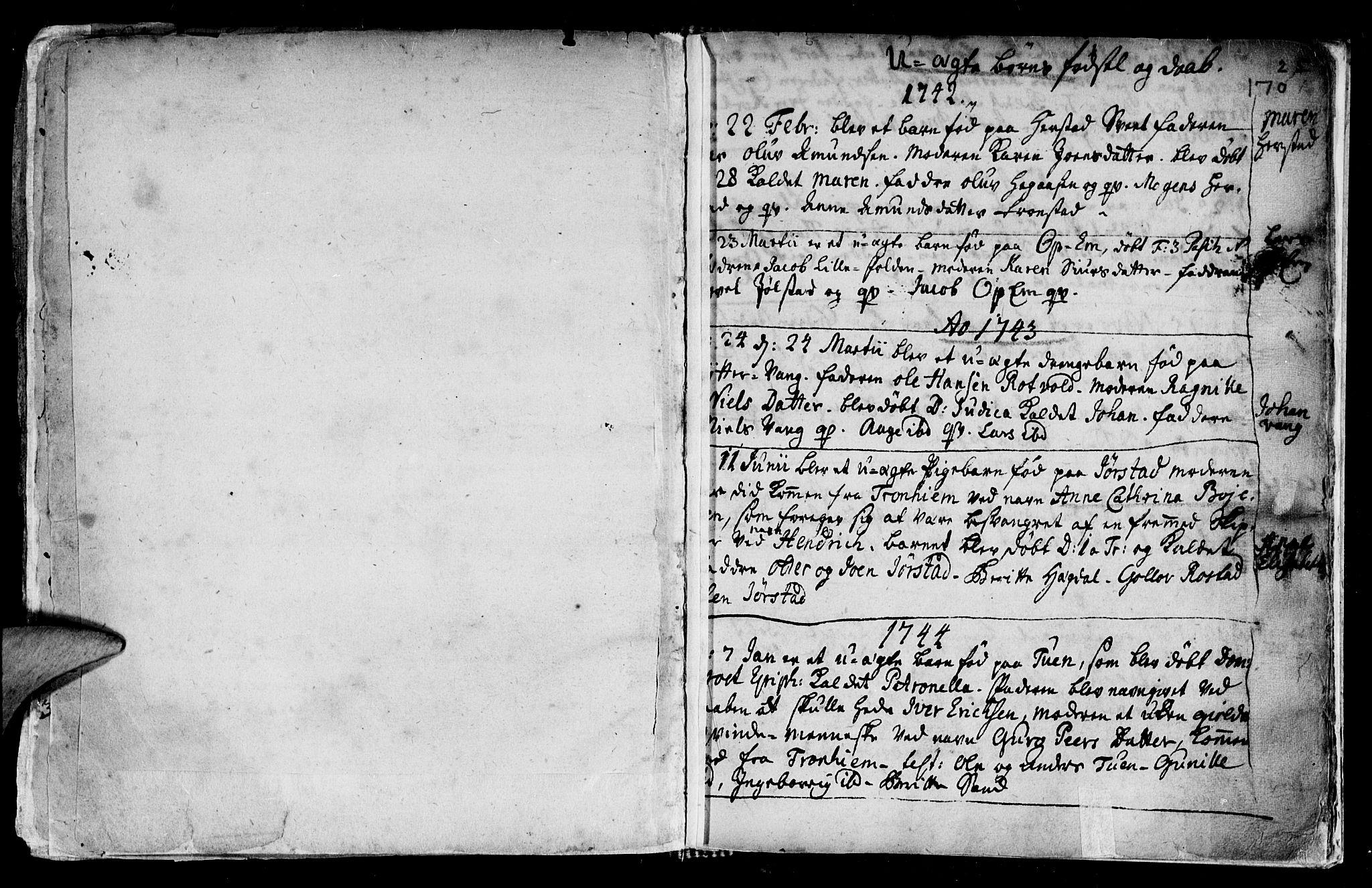 SAT, Ministerialprotokoller, klokkerbøker og fødselsregistre - Nord-Trøndelag, 730/L0272: Ministerialbok nr. 730A01, 1733-1764, s. 170