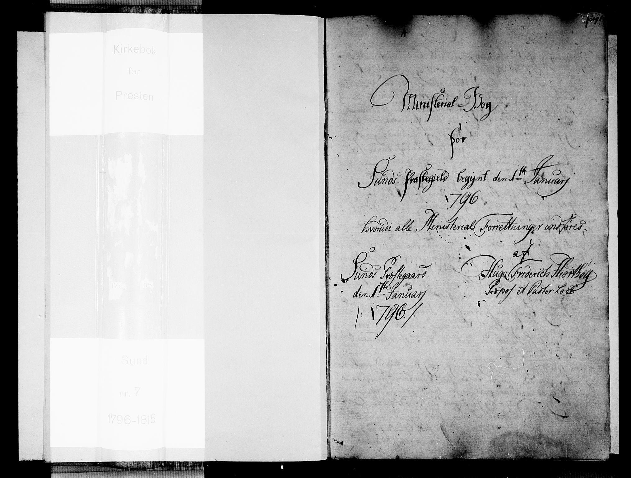 SAB, Sund sokneprestembete, Ministerialbok nr. A 7, 1796-1815, s. 0-1
